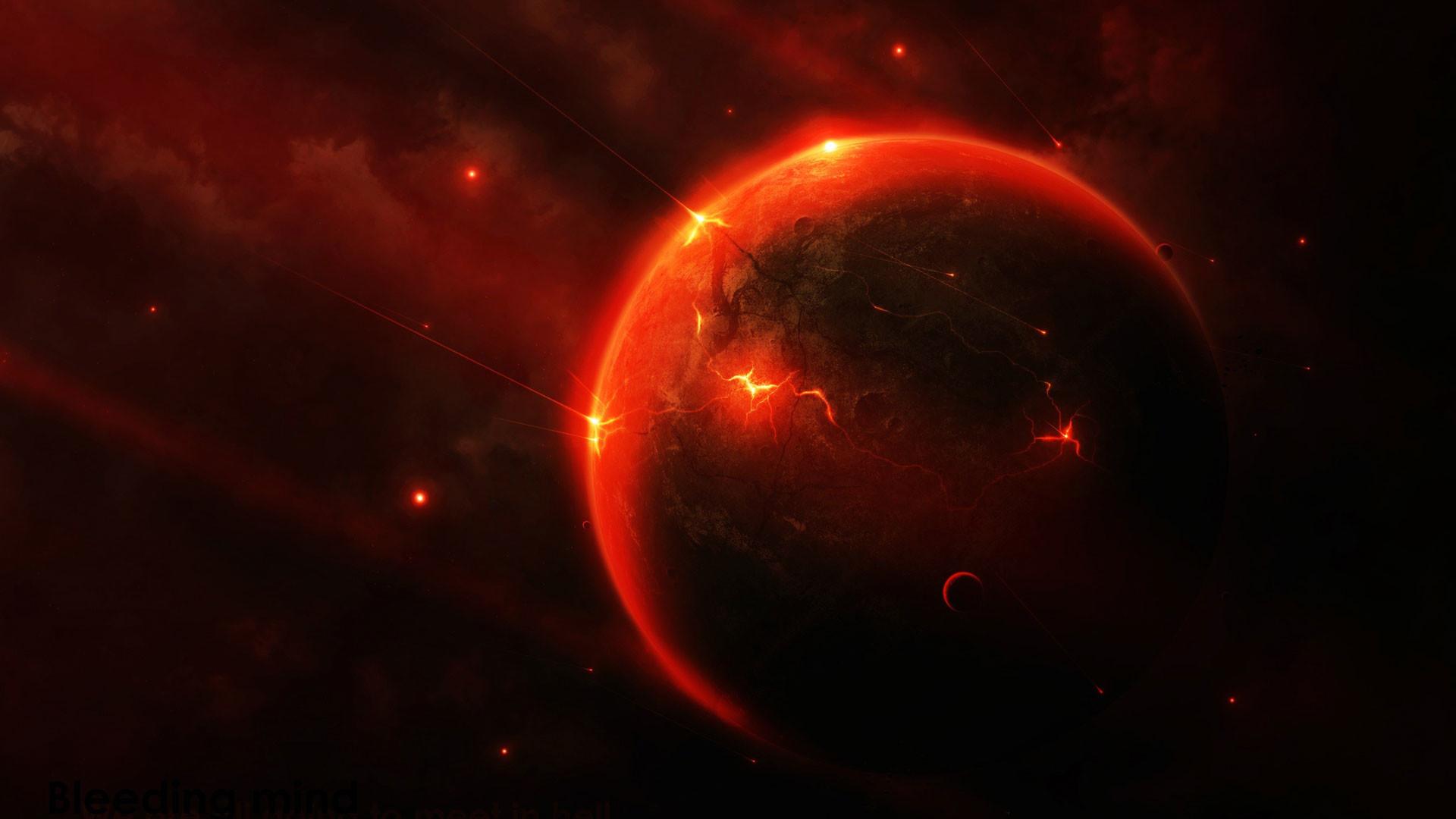 hd pics photos red space planet black desktop background wallpaper