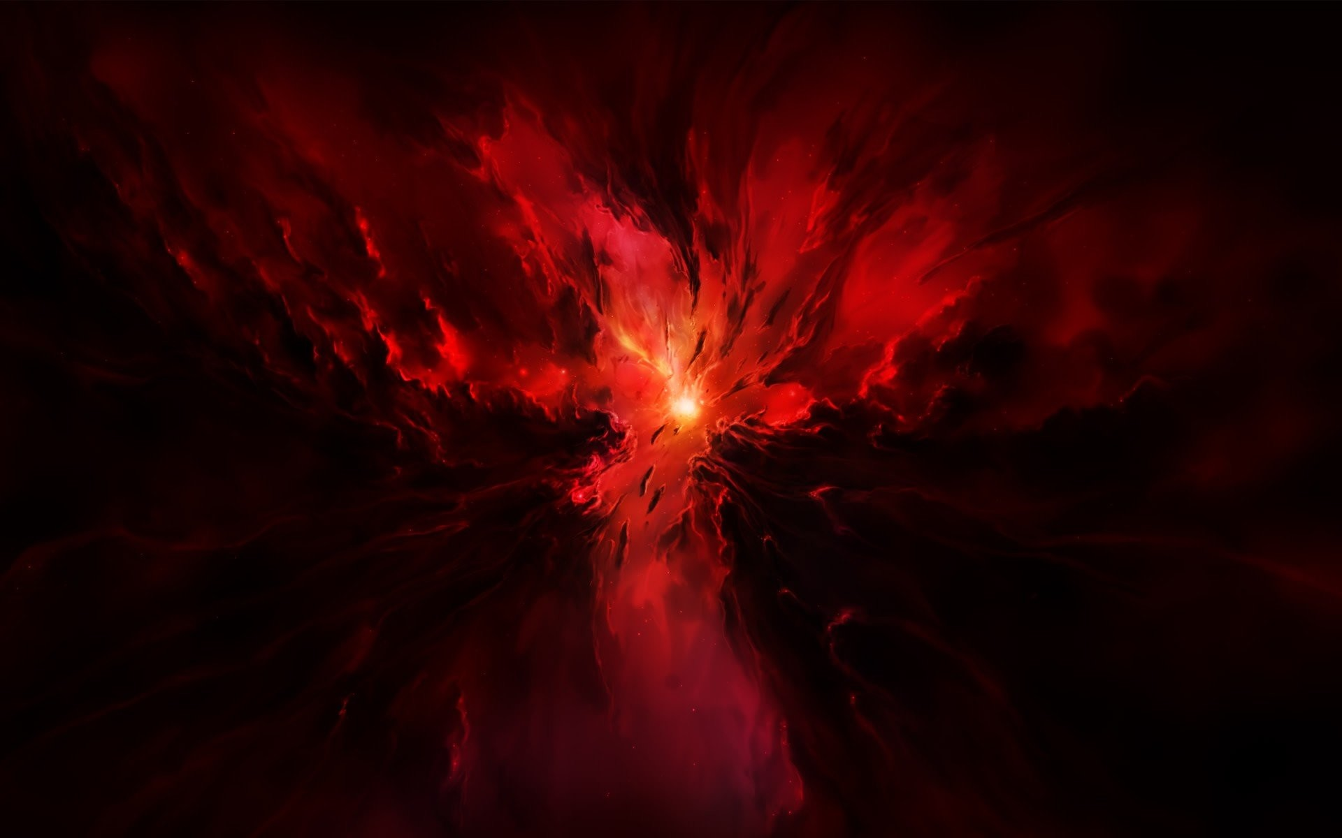 red space stars explosion star glow lights clots