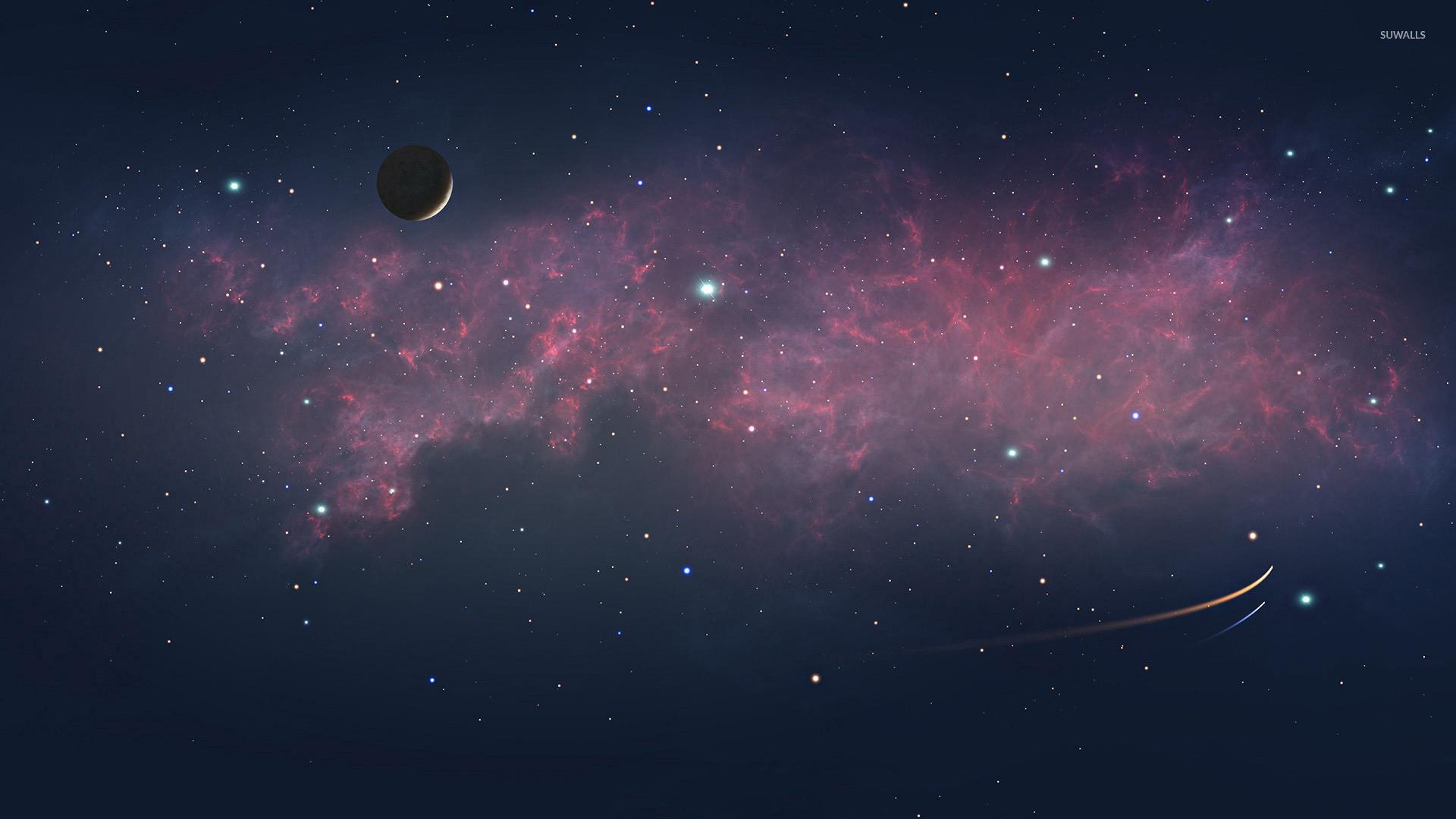 Red nebula [5] wallpaper