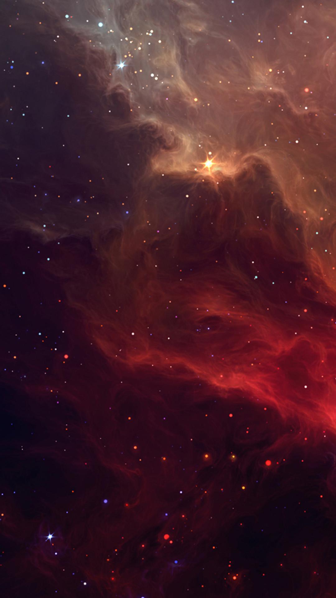 Red Galactic Nebula Htc One M8 wallpaper