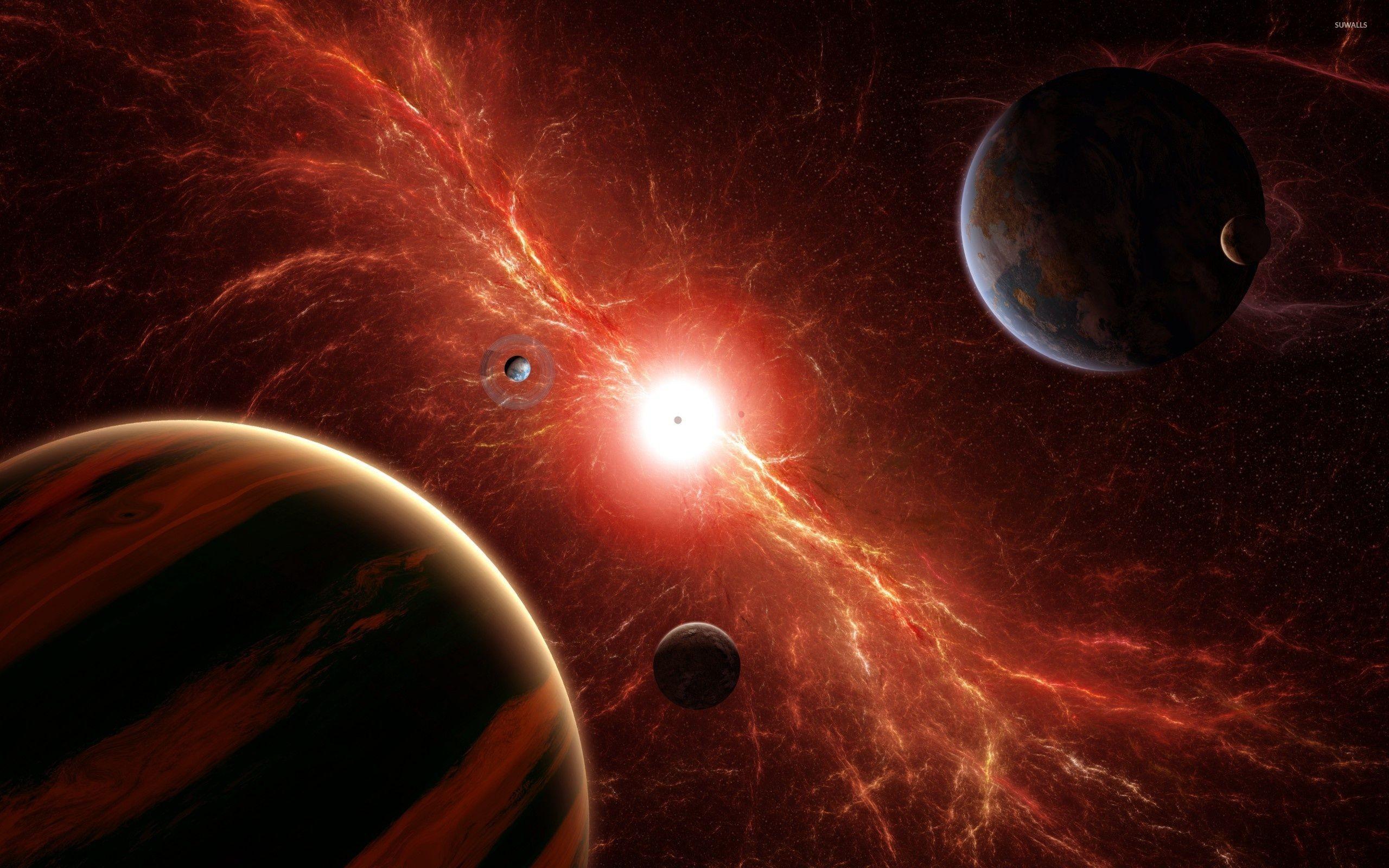 Red supernova wallpaper