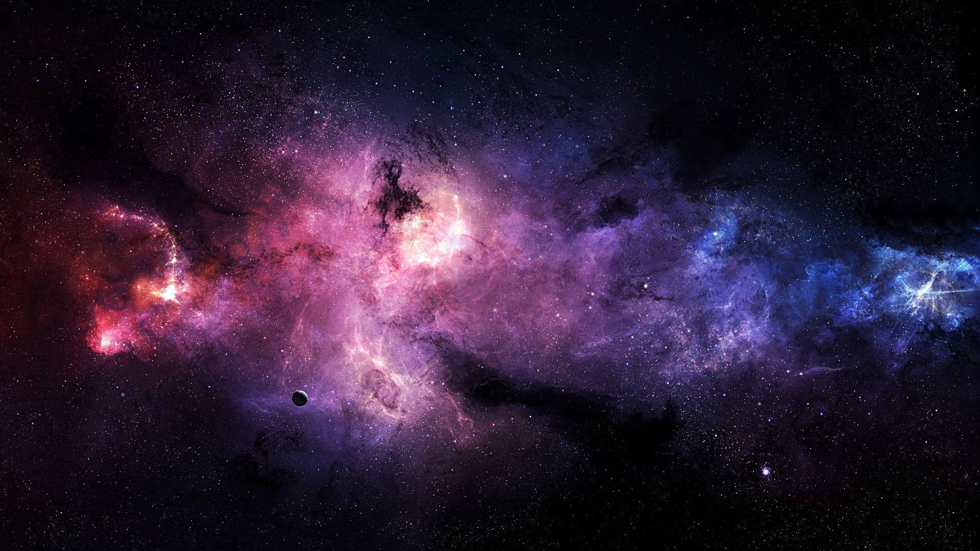 Purple And Blue On Galaxy Wallpaper HD Wallpaper with .