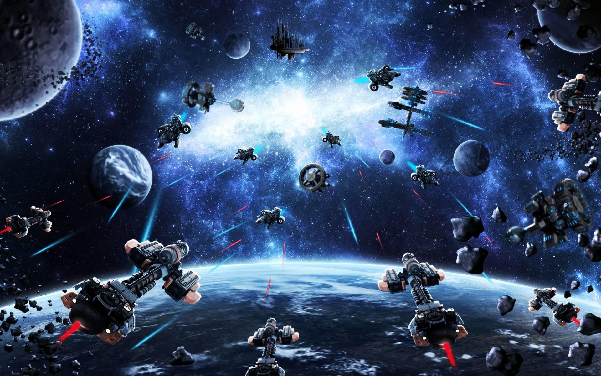 Epic Space War Wallpaper Desktop Background #oiz