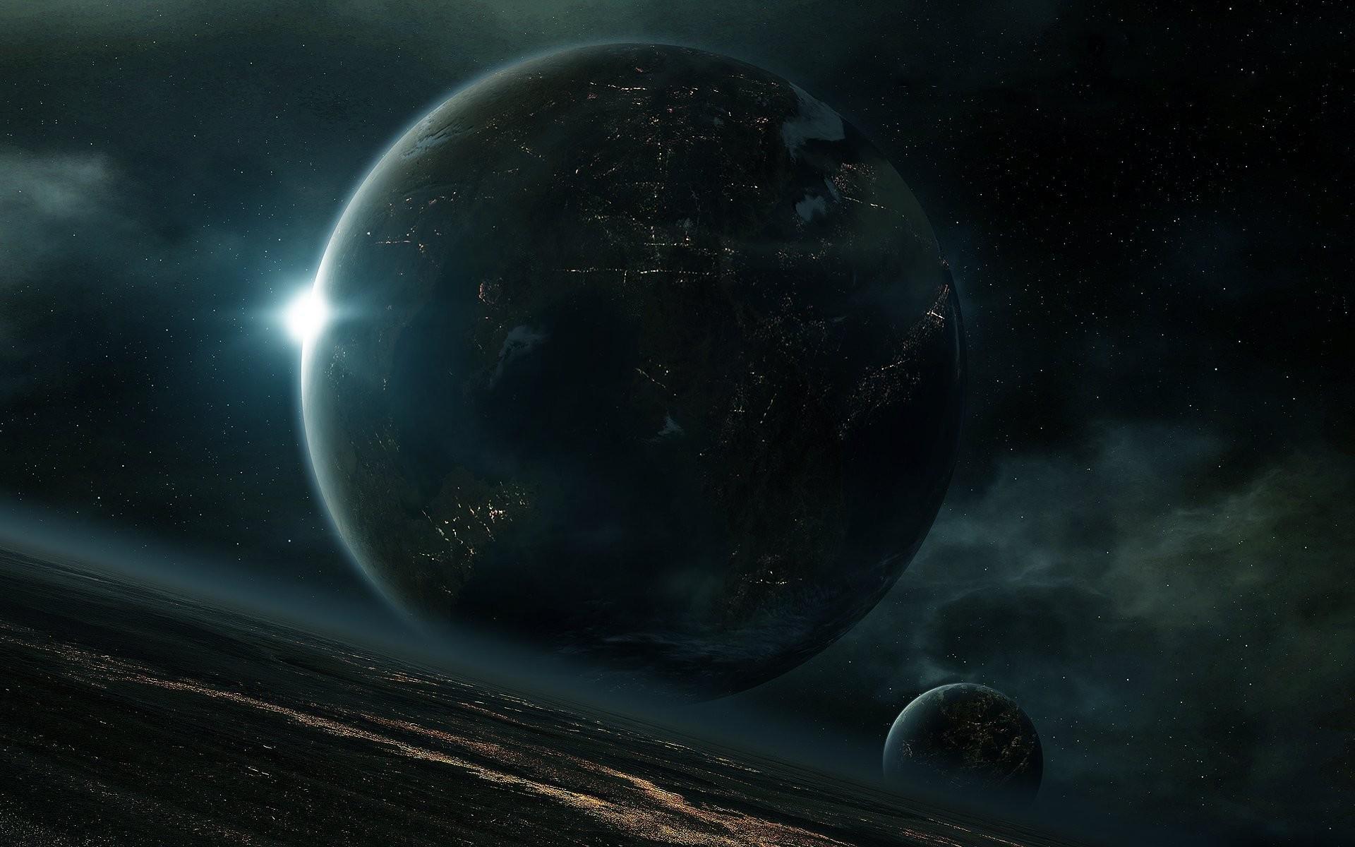 habitable planet lights mega-cities space star