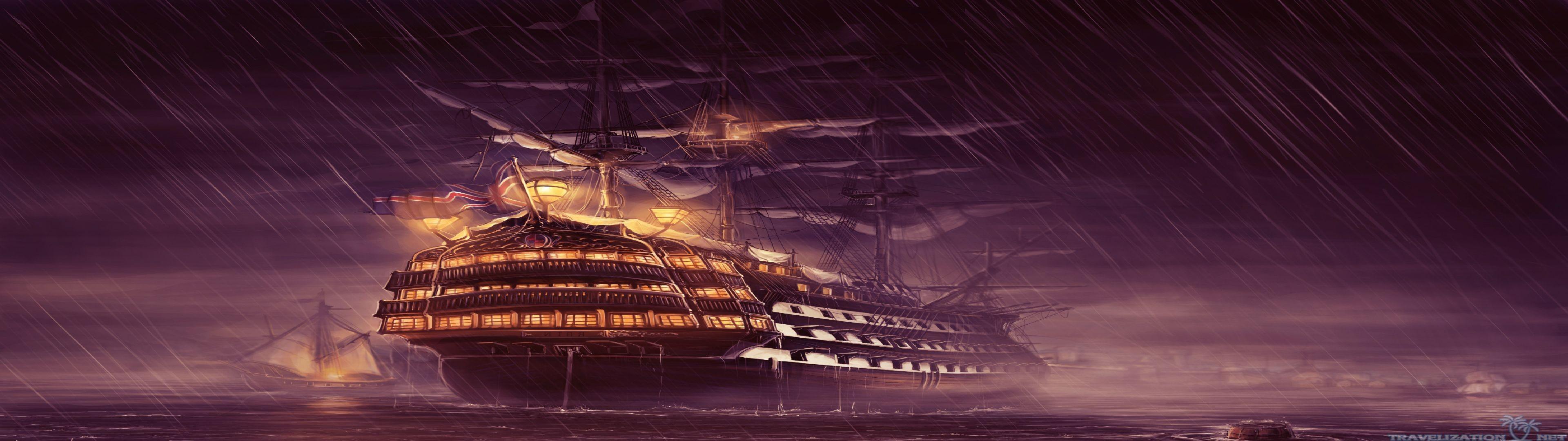 British ship sailing on the high seas: …
