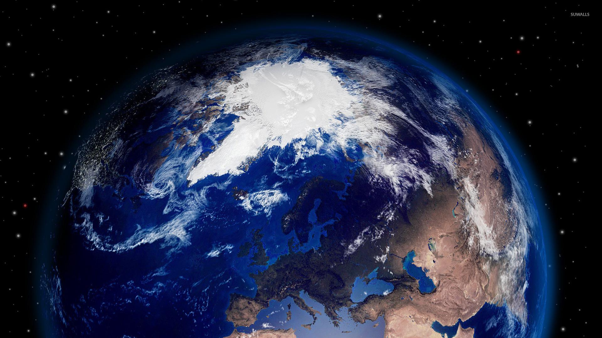 Earth between the stars wallpaper