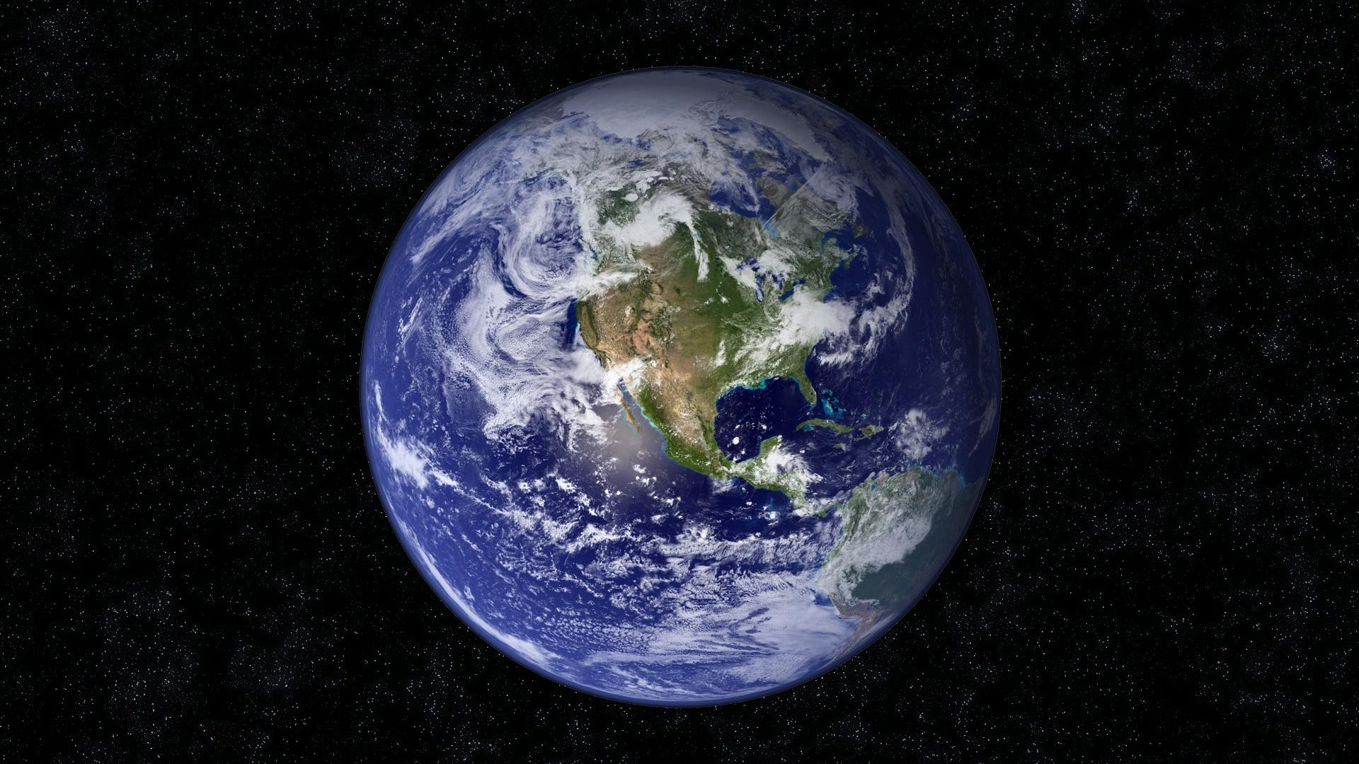 Earth – From Space Stars Sky Night Space Wallpaper