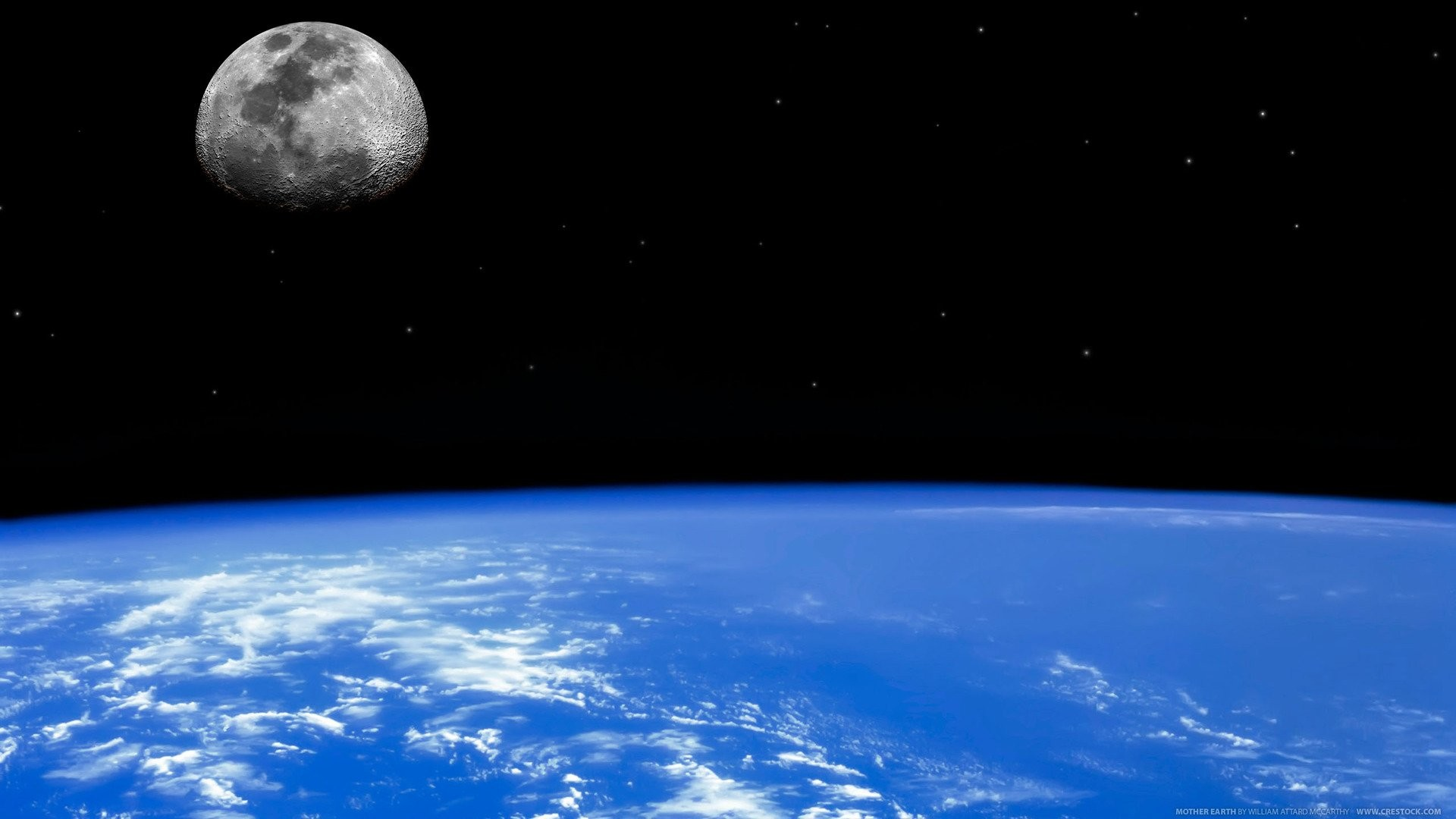 Earth – From Space Moon Horizon Planet Earth Space Wallpaper