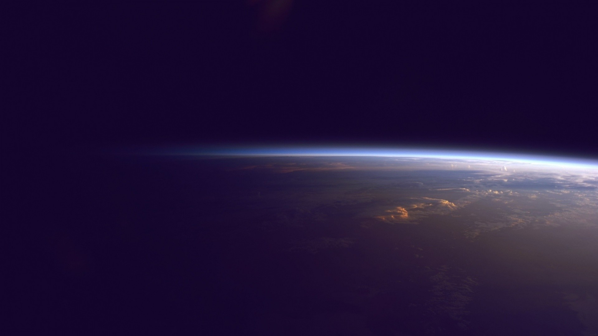 Earth Horizon from Outer Space
