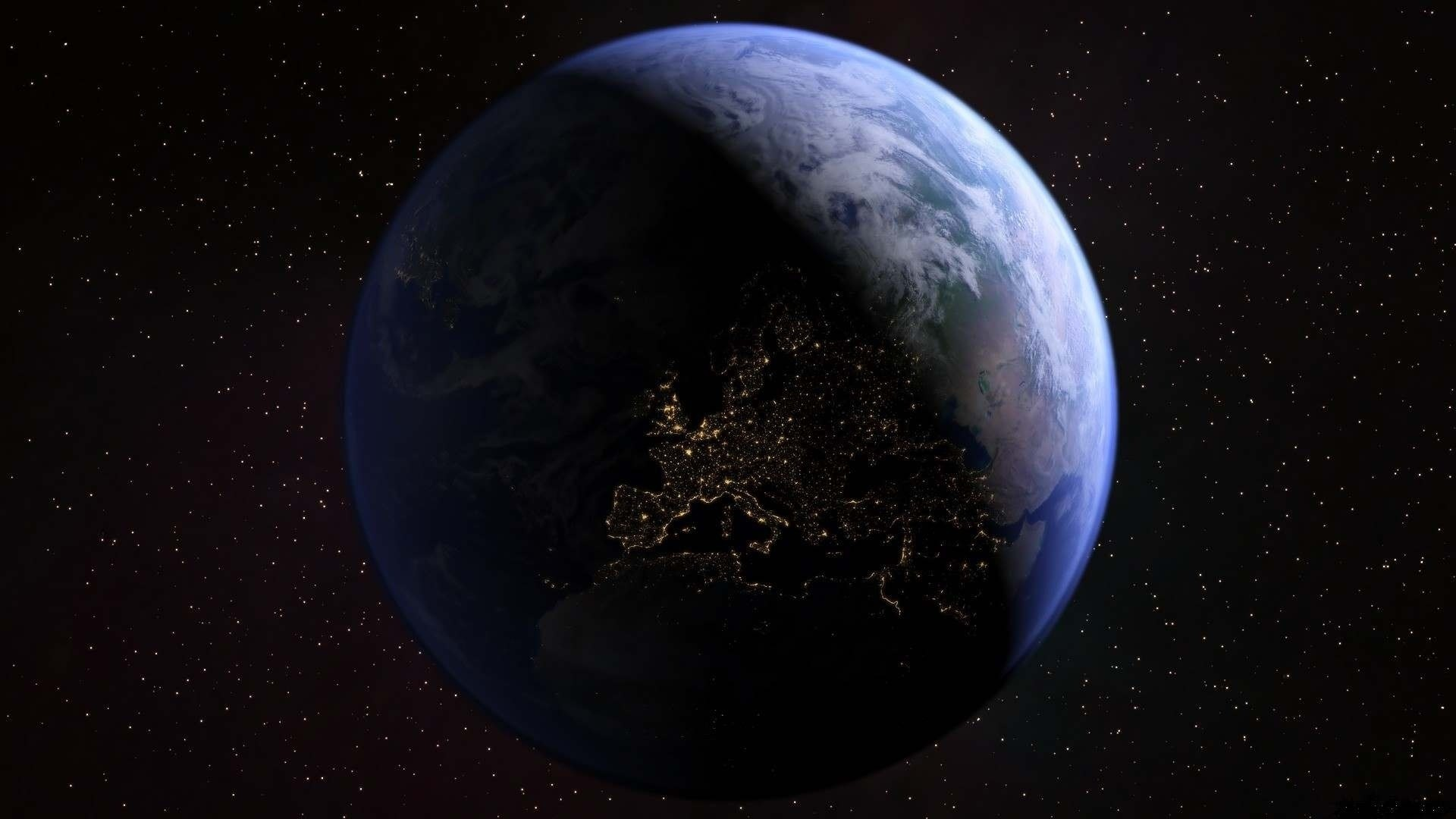 Earth From Space Wallpaper 1920×1080
