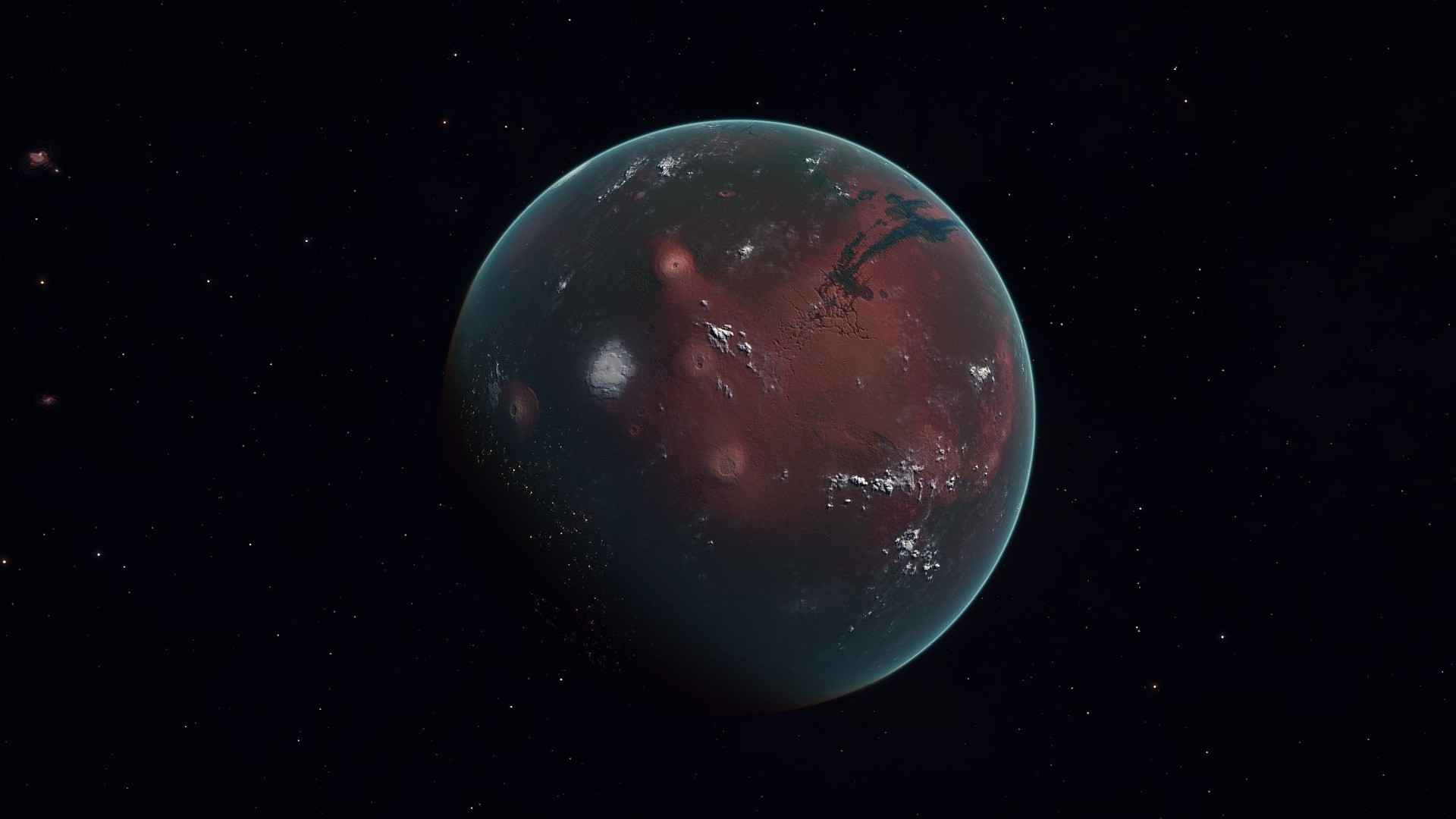 Wallpaper mars, planet, space