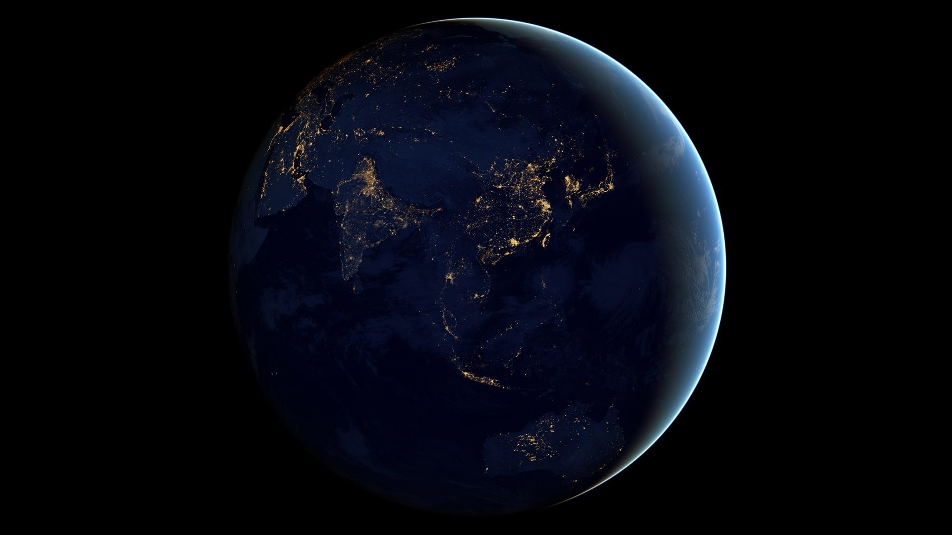 Space – Lights Earth Night Planet Black Wallpapers Nature Animated for HD  16:9 High