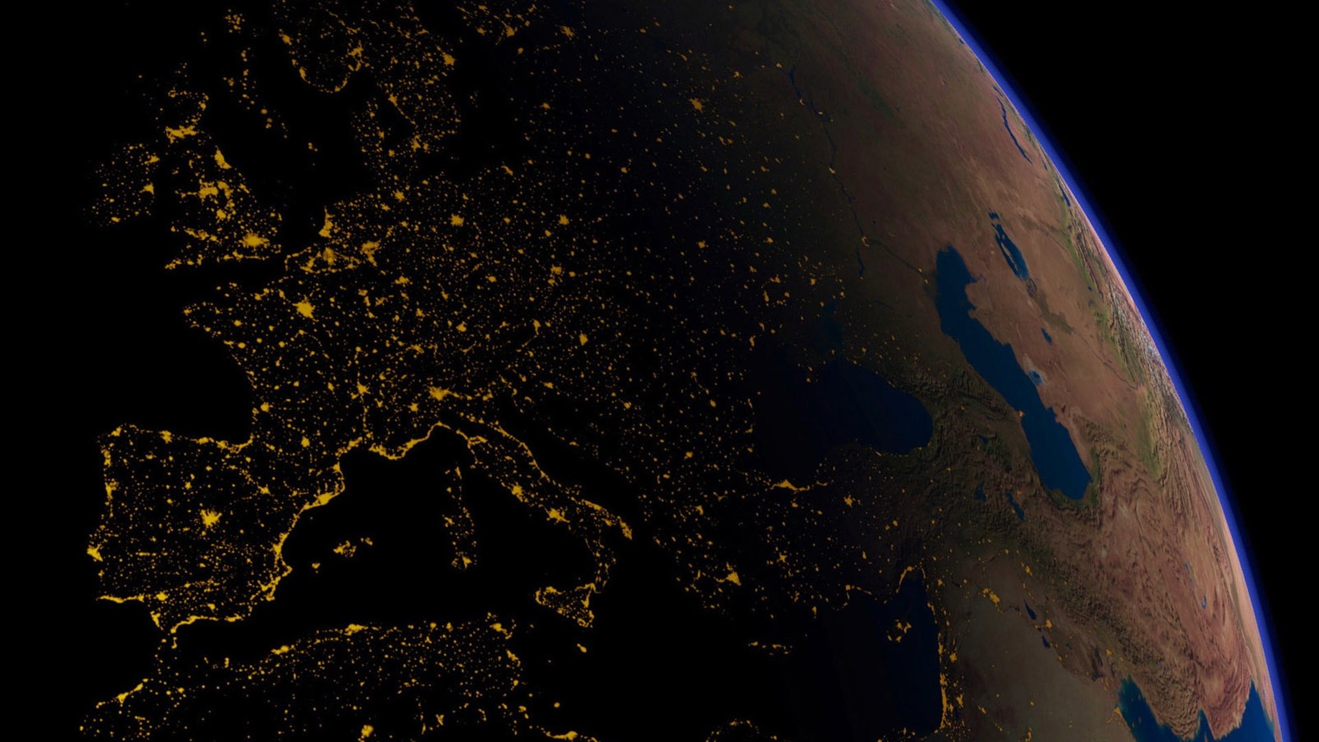 Earth – From Space Europe Earth Space Wallpaper