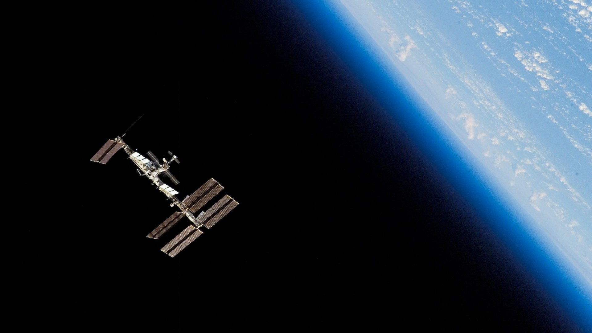 Wallpaper station iss, space, orbit, planet, earth