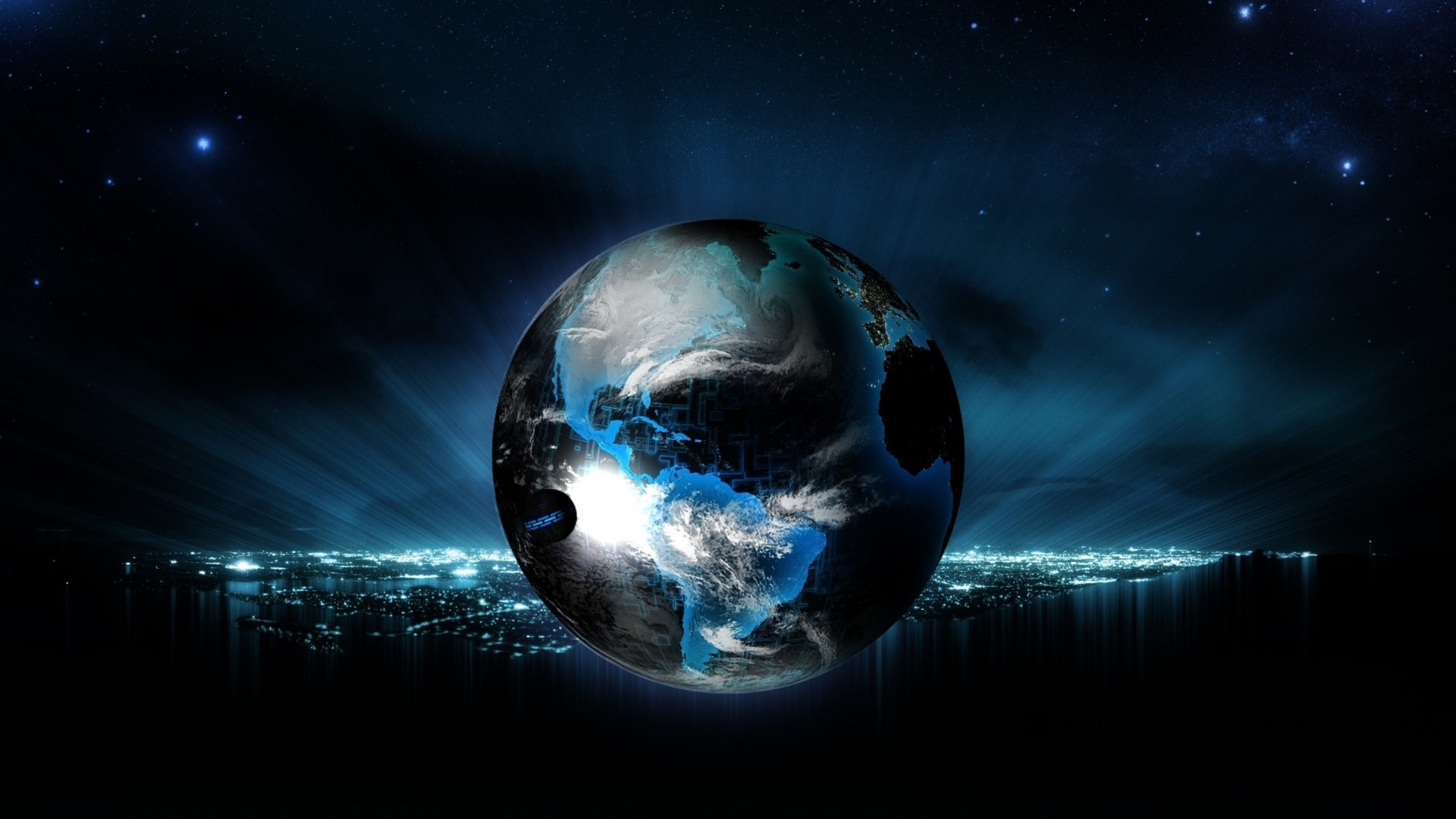 Earth floating over the city Digital Art HD desktop wallpaper, Planet  wallpaper, City wallpaper, Earth wallpaper – Digital Art no.