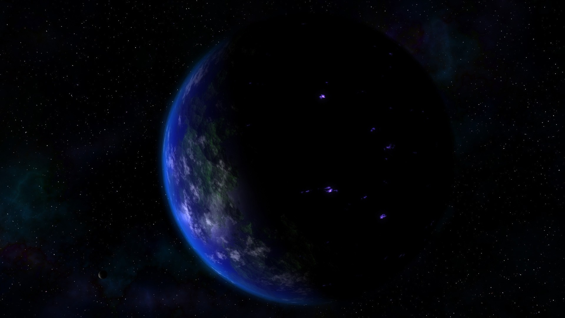 Wallpaper earth, planet, days, day, night, stars