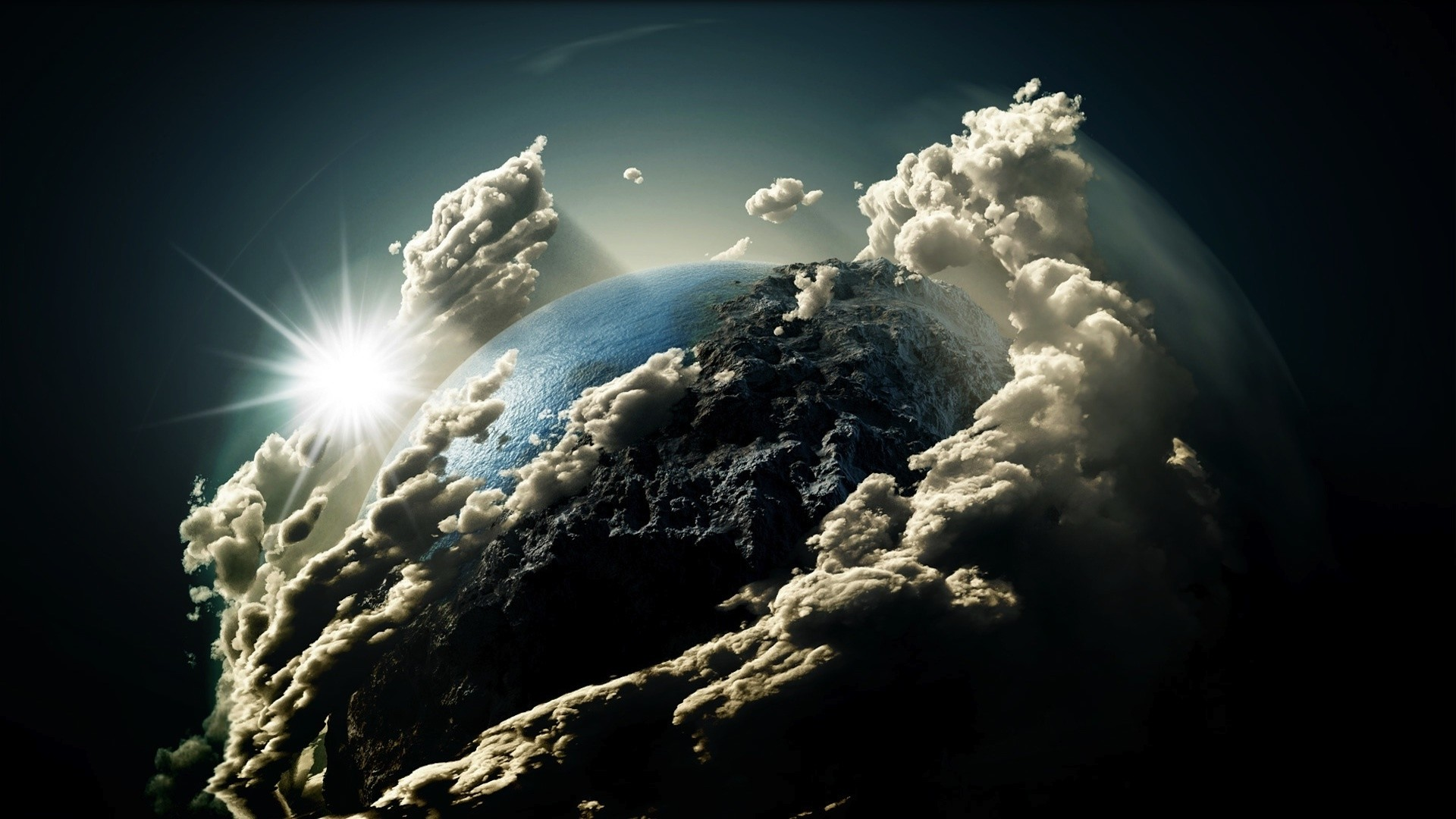 Earth Clouds Wallpaper Clouds around the planet
