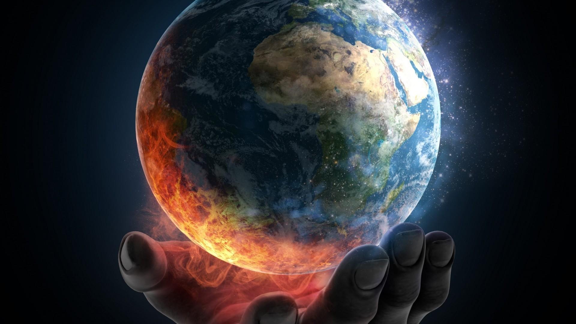 Planet Earth Destruction Wallpaper