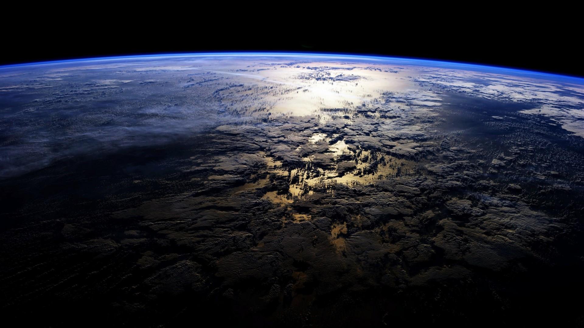 Wallpaper planet, surface, space, dark, island
