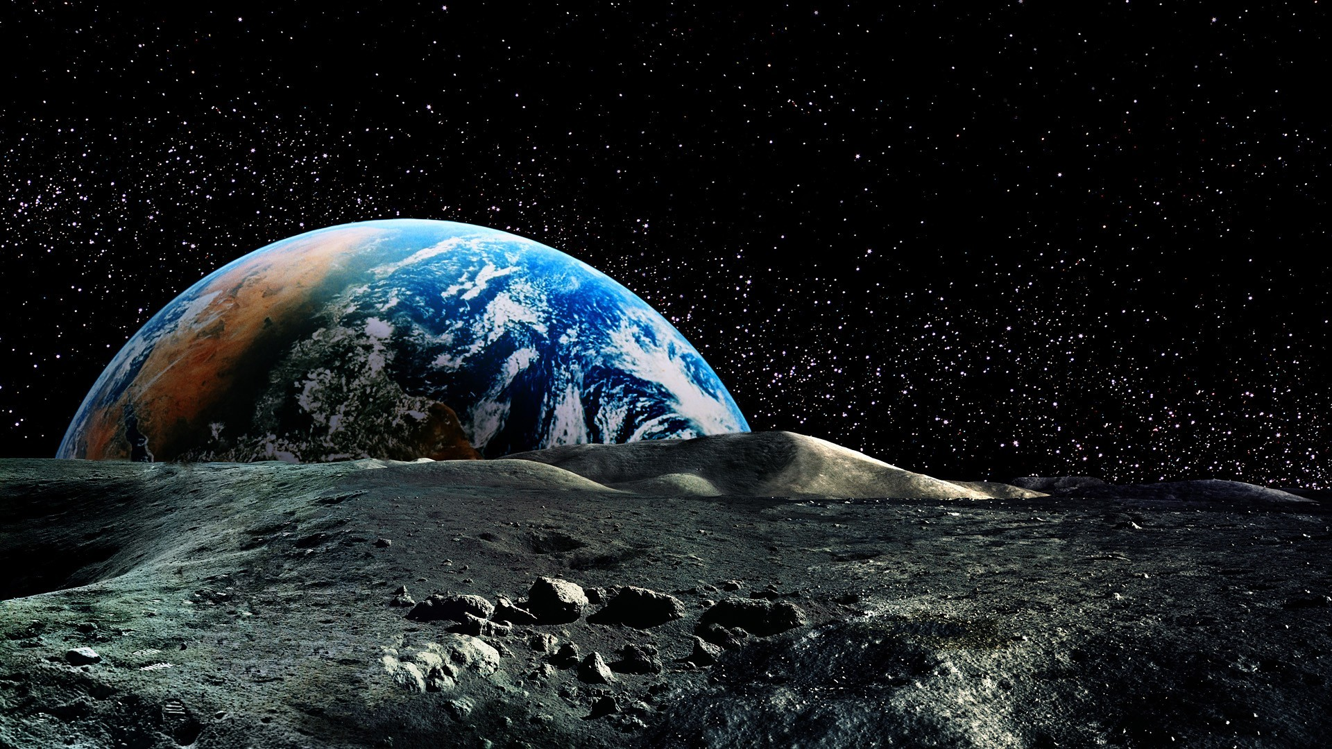View from the moon Space HD desktop wallpaper, Moon wallpaper, Earth  wallpaper, Star wallpaper – Space no.
