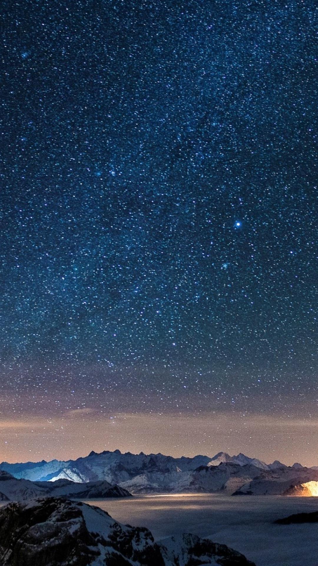 Beautiful starry sky iPhone wallpaper