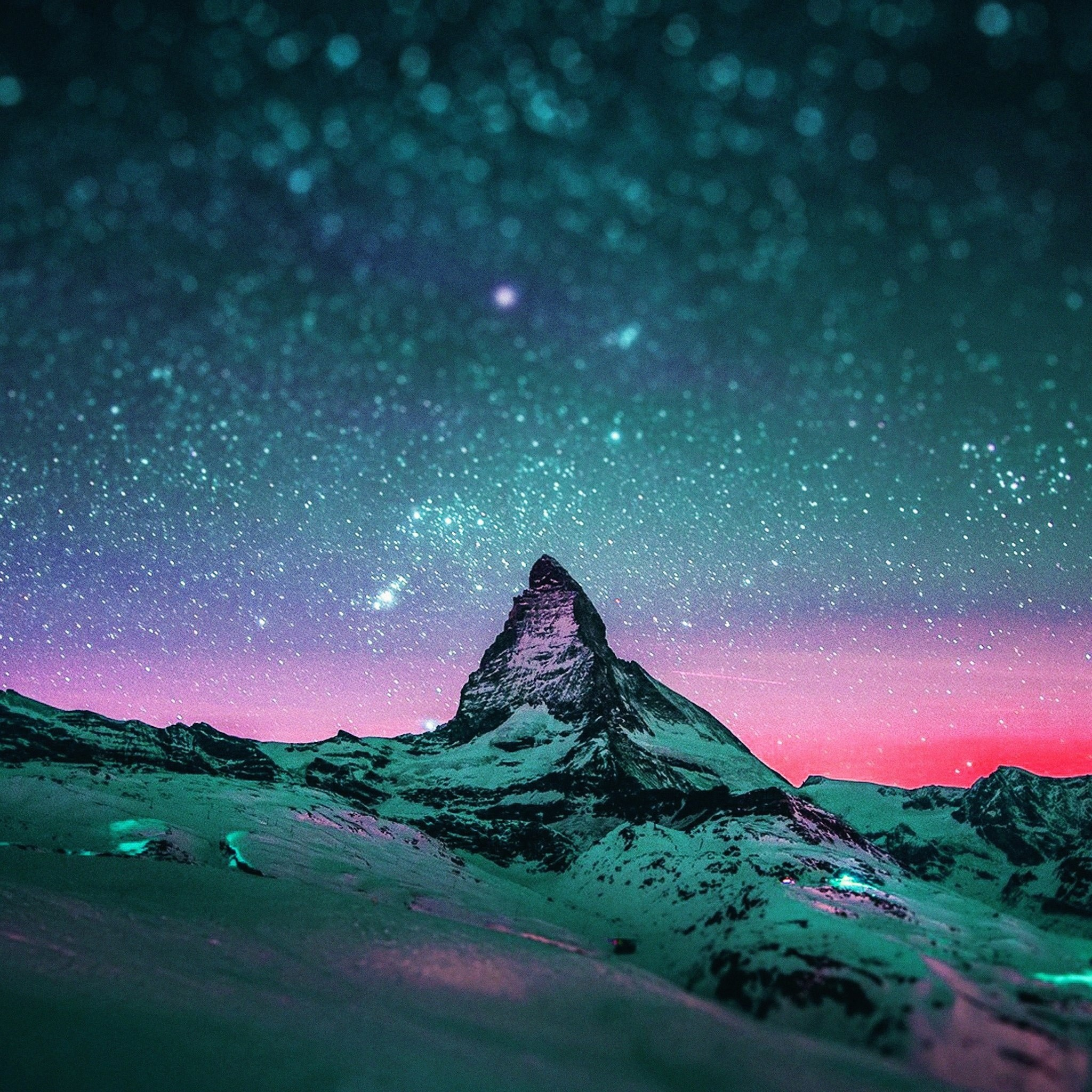 7571 18: Starry Night Sky Stars iPad wallpaper