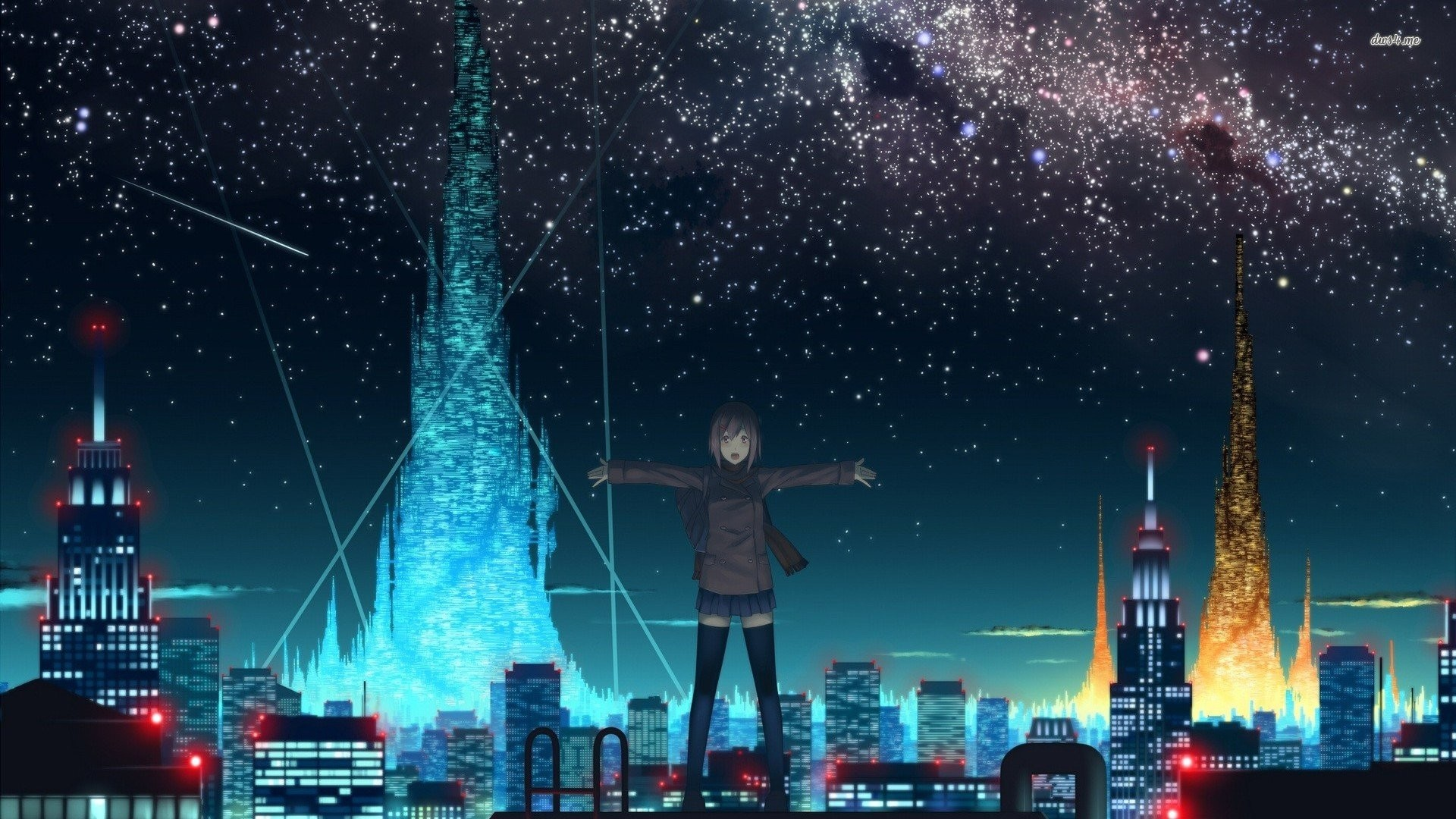 Starry Sky Over Anime City 532288 …