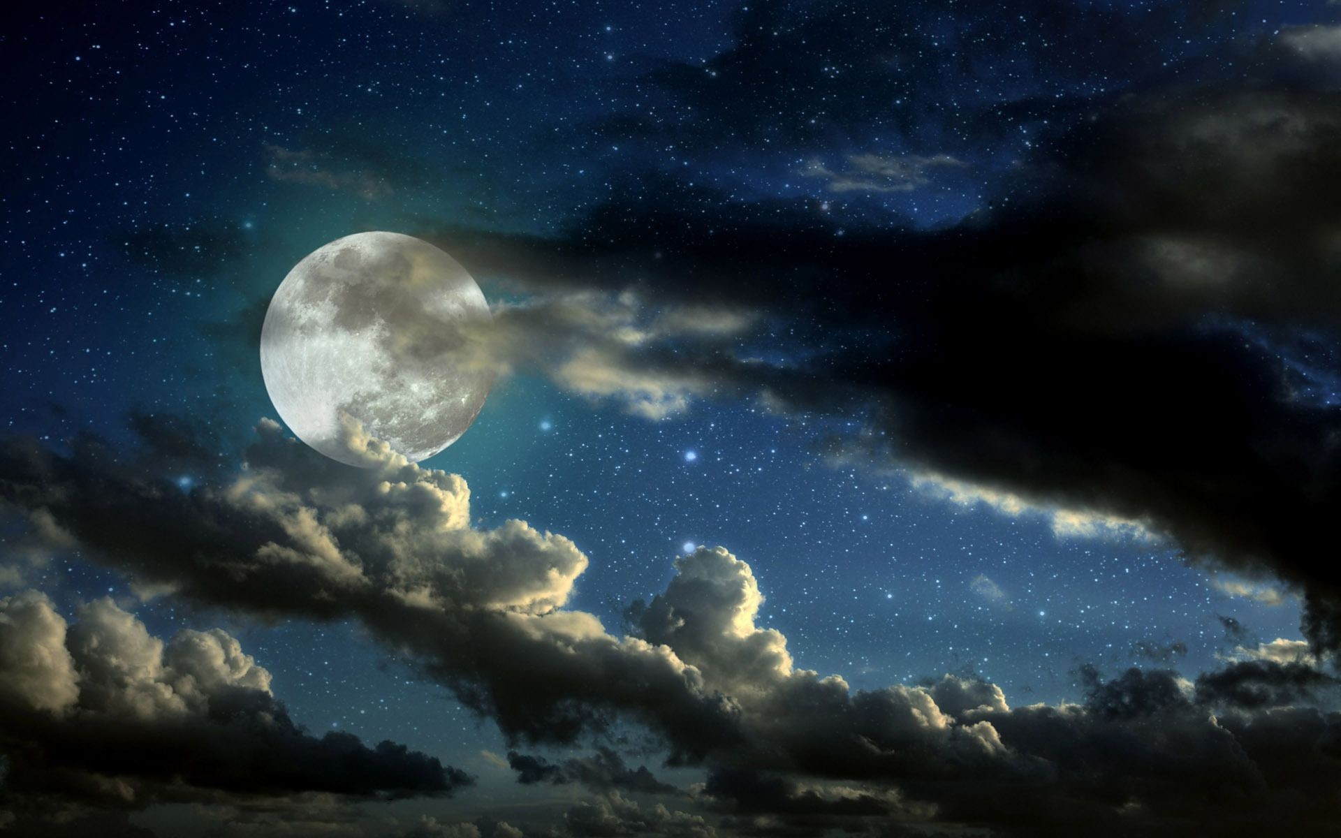 Blue Moon full-moon-in-the-starry-sky-photography-