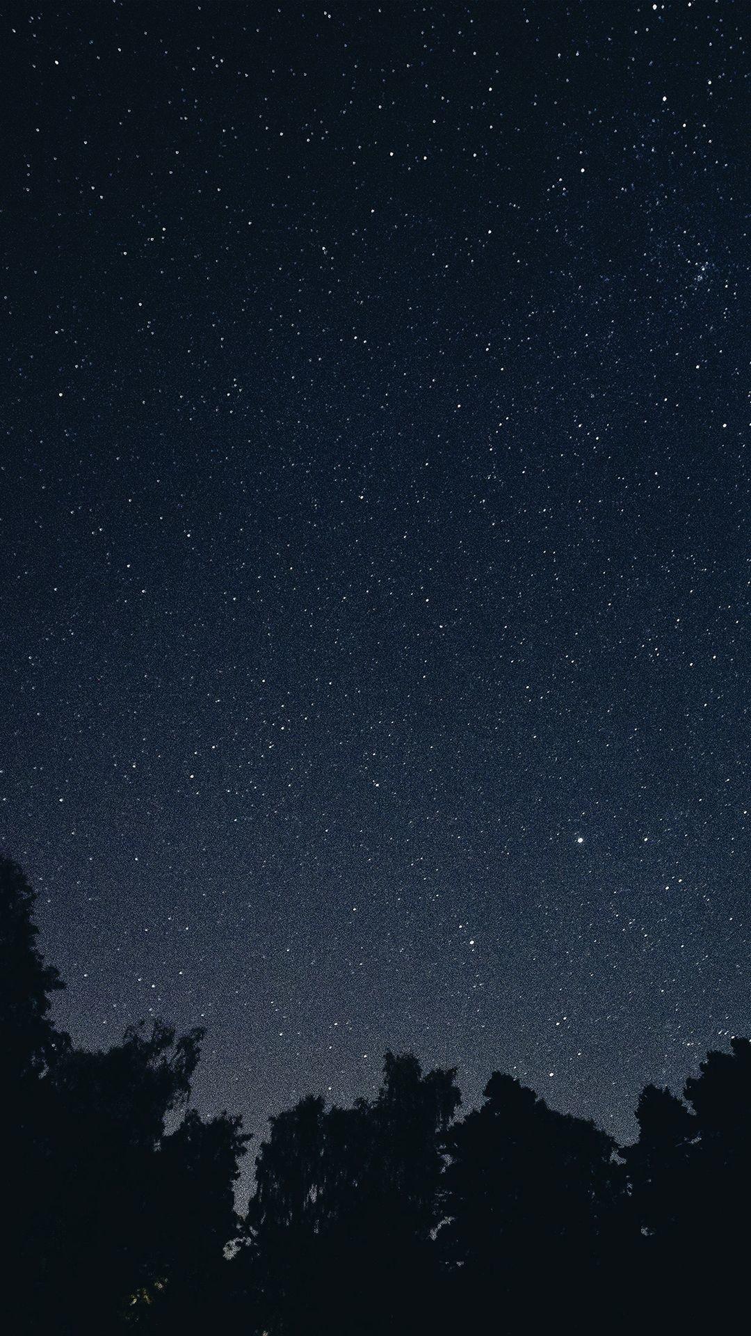 Starry Night Sky Star Galaxy Space Dark iPhone 6 Wallpaper .