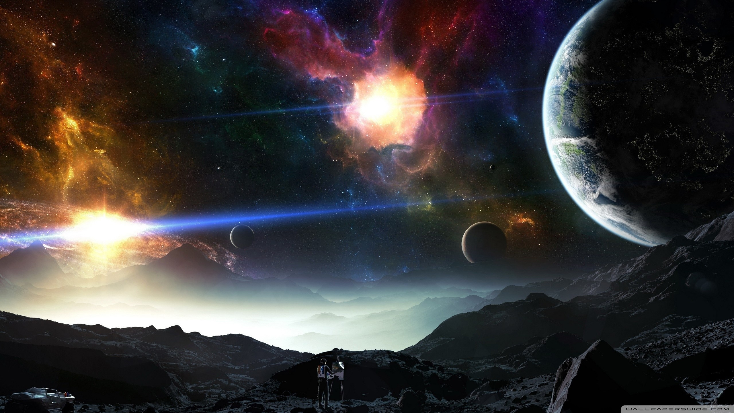 Explore Space Planets, Art Spaces, and more!