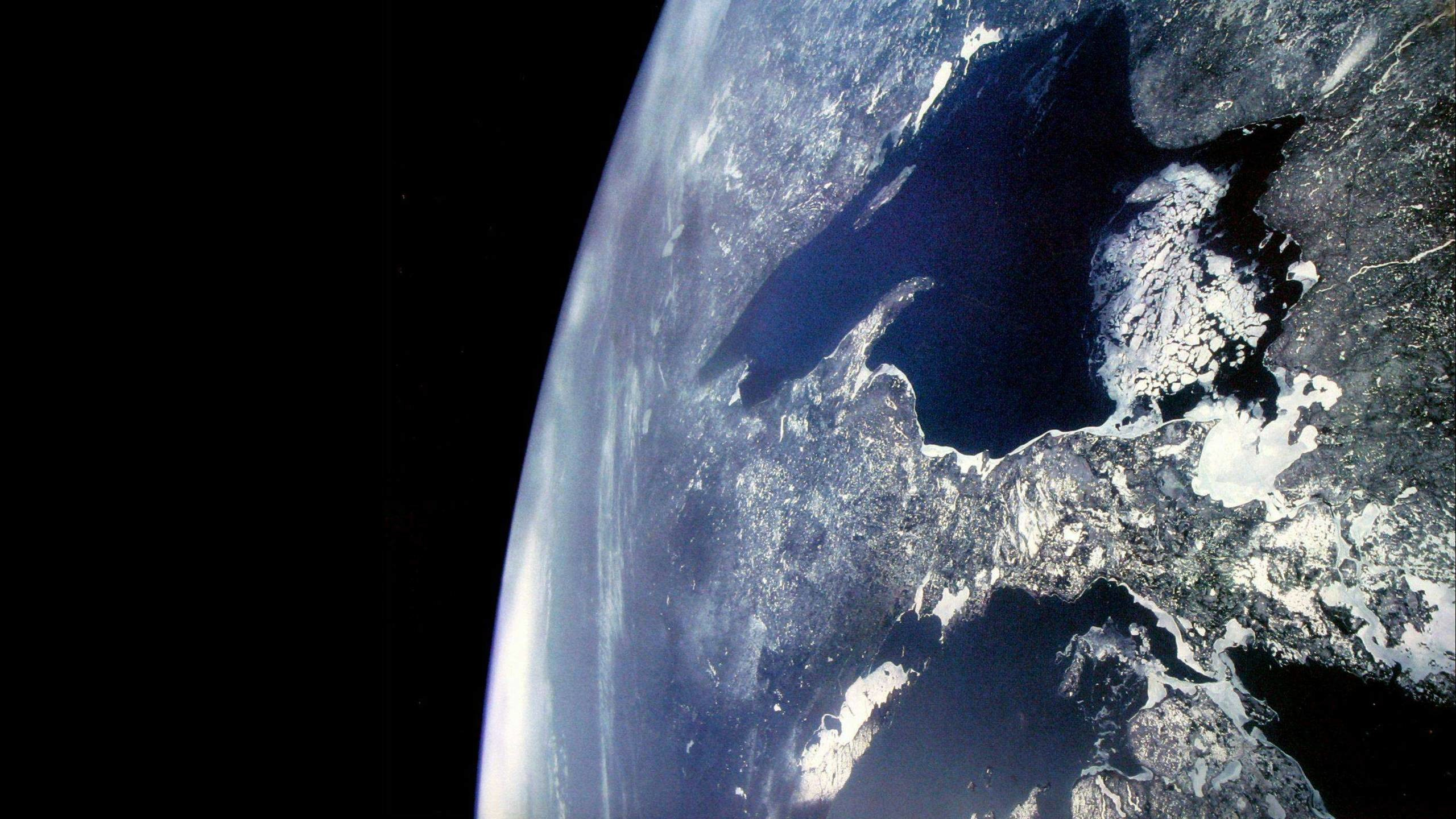 Icy Earth from Space Wallpaper