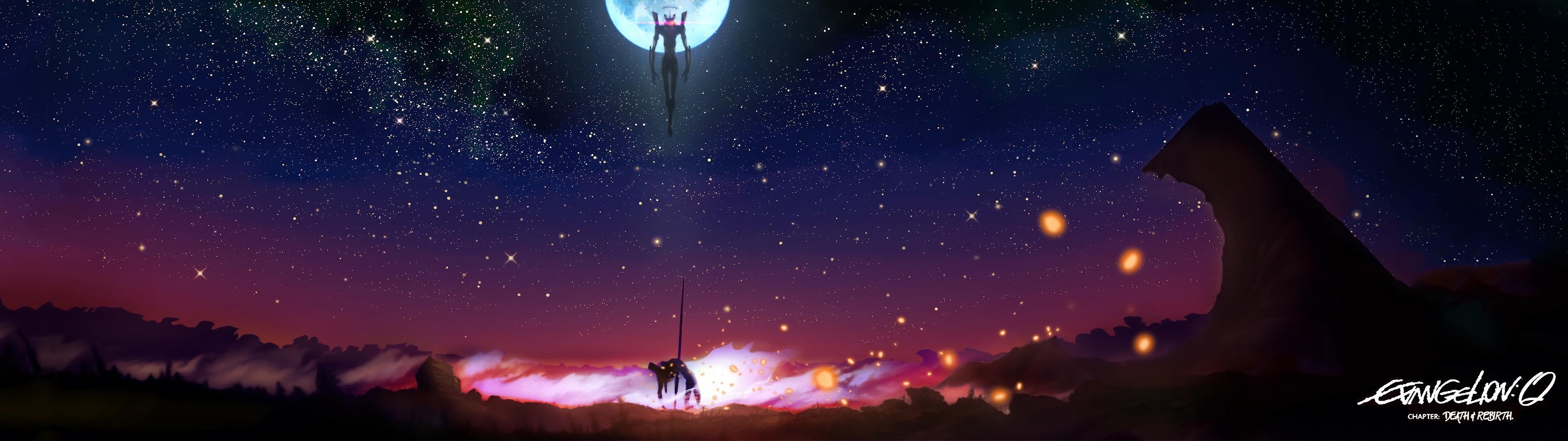 [3840×1080] Evangelion – Death & RebirthDual …
