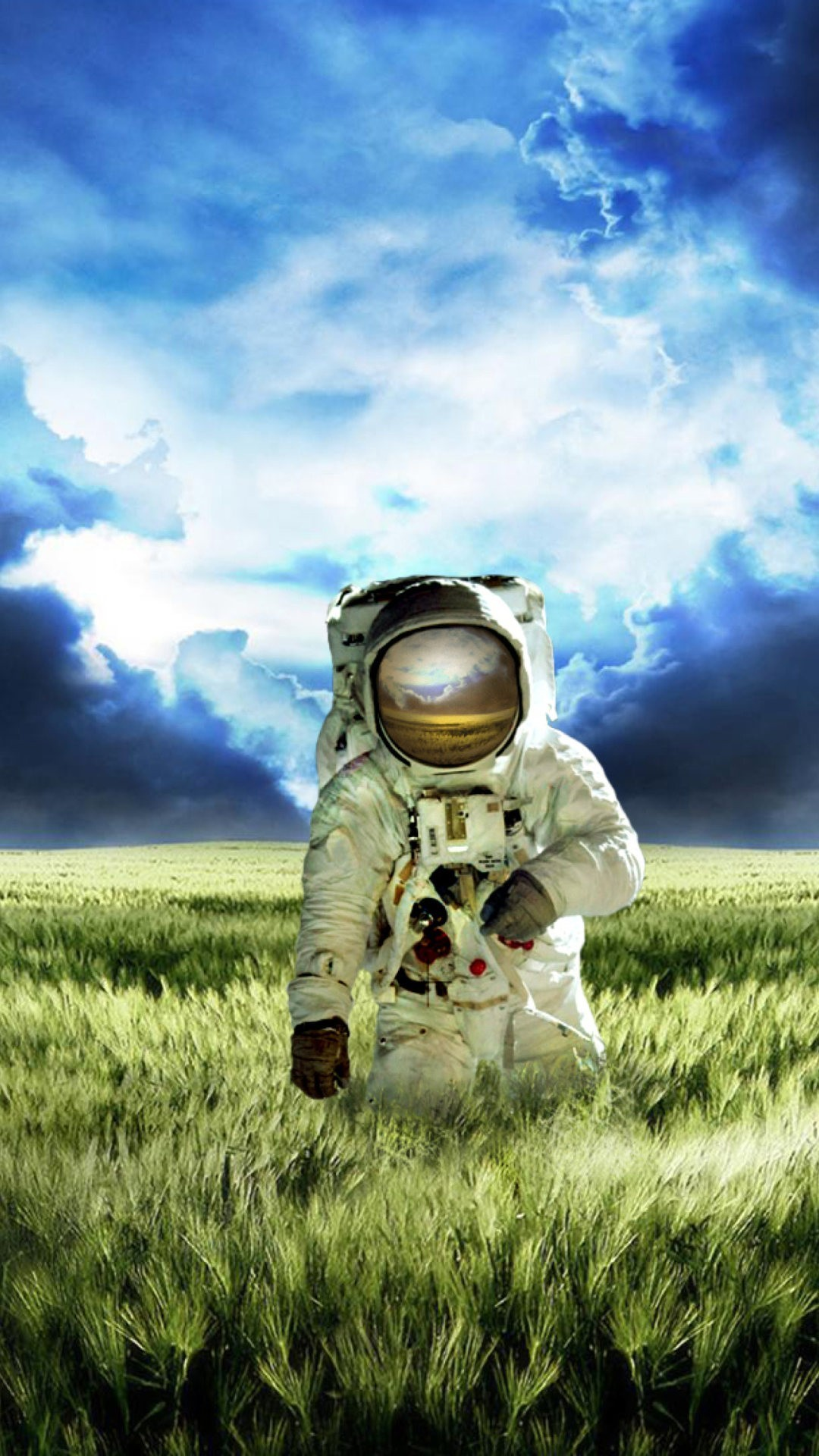 Astronaut in a new planet