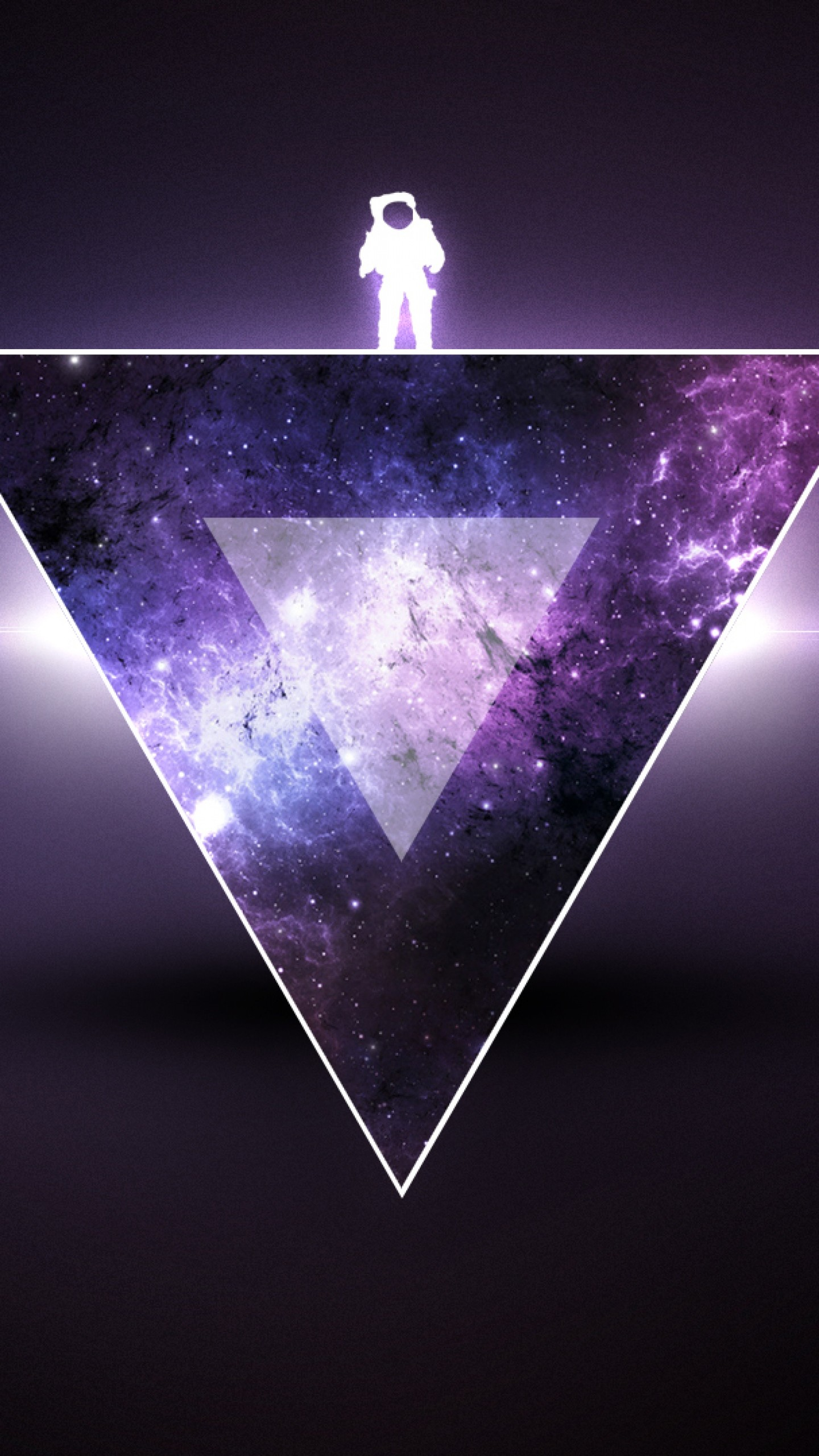 Preview wallpaper texture, triangle, astronaut, minimalism 1440×2560