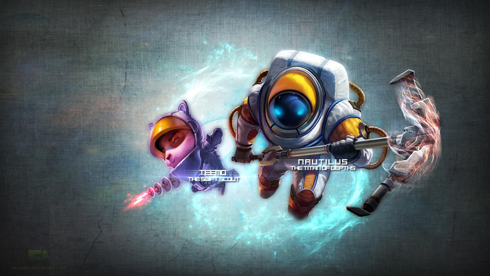 AstroNautilus & Astronaut Teemo by xRazerxD HD Wallpaper Fan Artwork League  of Legends lol
