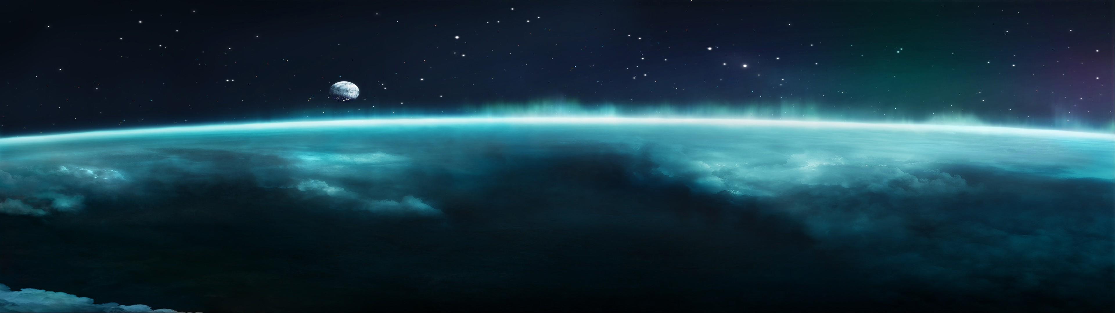 space, Planet, Space Art, Aurorae