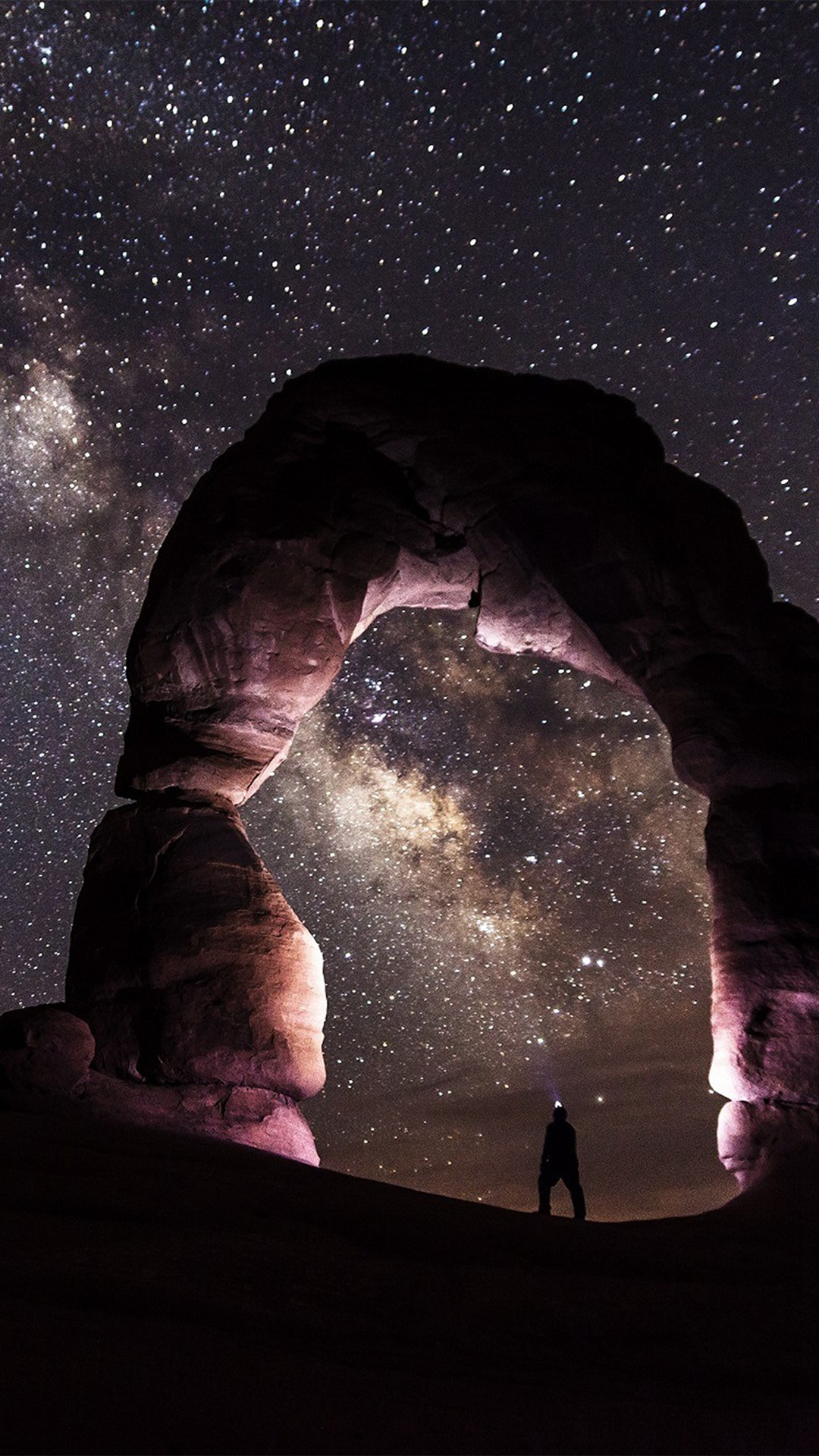 Night Sky Mountain Star Space Nature #iPhone #6 #wallpaper