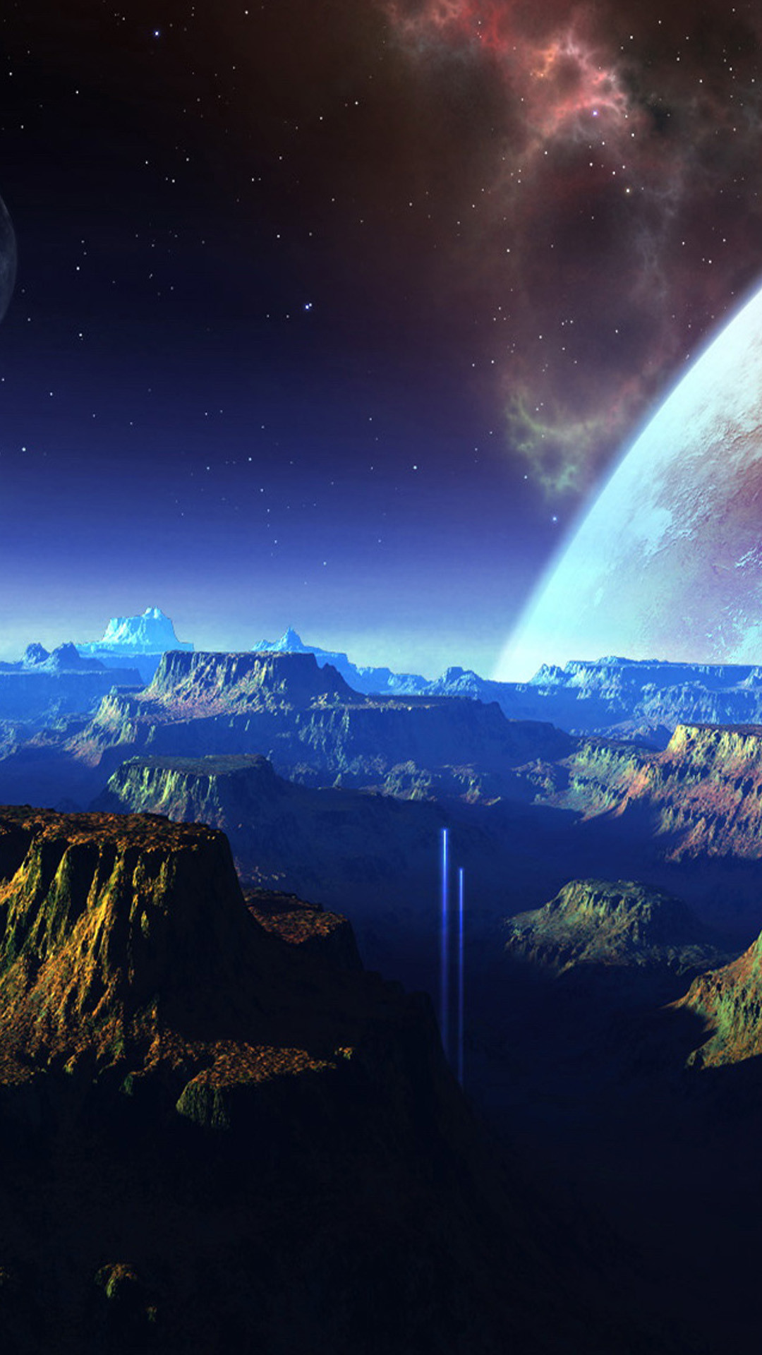 Nature Outer Space Mountains Skyscape #iPhone #6 #plus #wallpaper