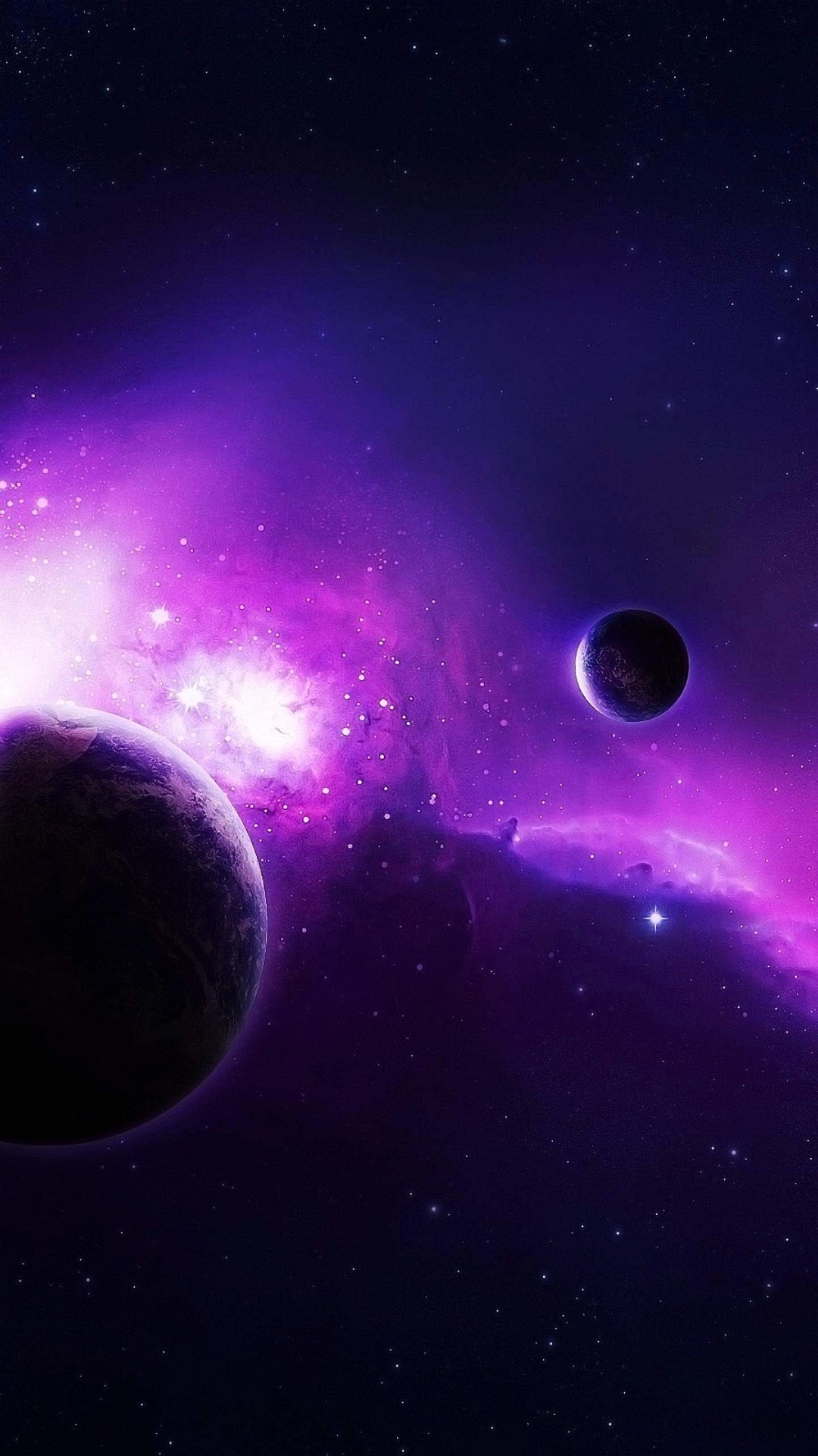 Wallpaper Iphone 6 Plus Violet Space 5 5 Inches