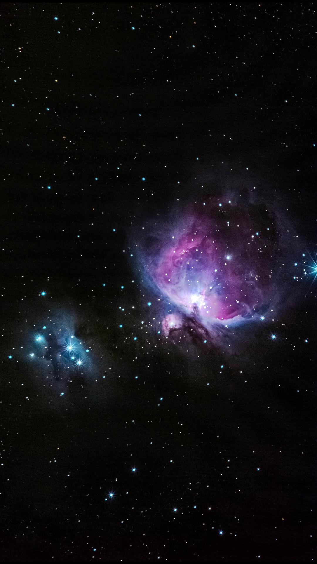 Blue And Pink Nebula Shiny In Outer Space #iPhone #6 #plus #wallpaper