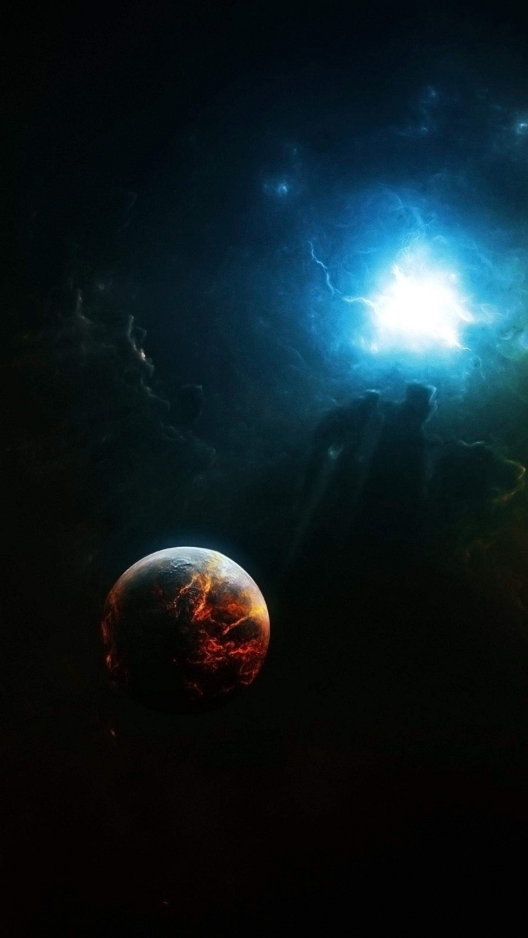 Wallpaper iphone 6 plus space energy planet 5 5 inches