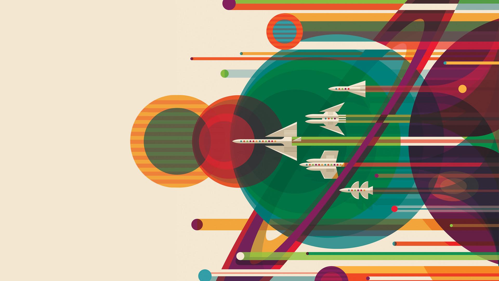 NASA's 'Great Tour' Poster as a Wallpaper!