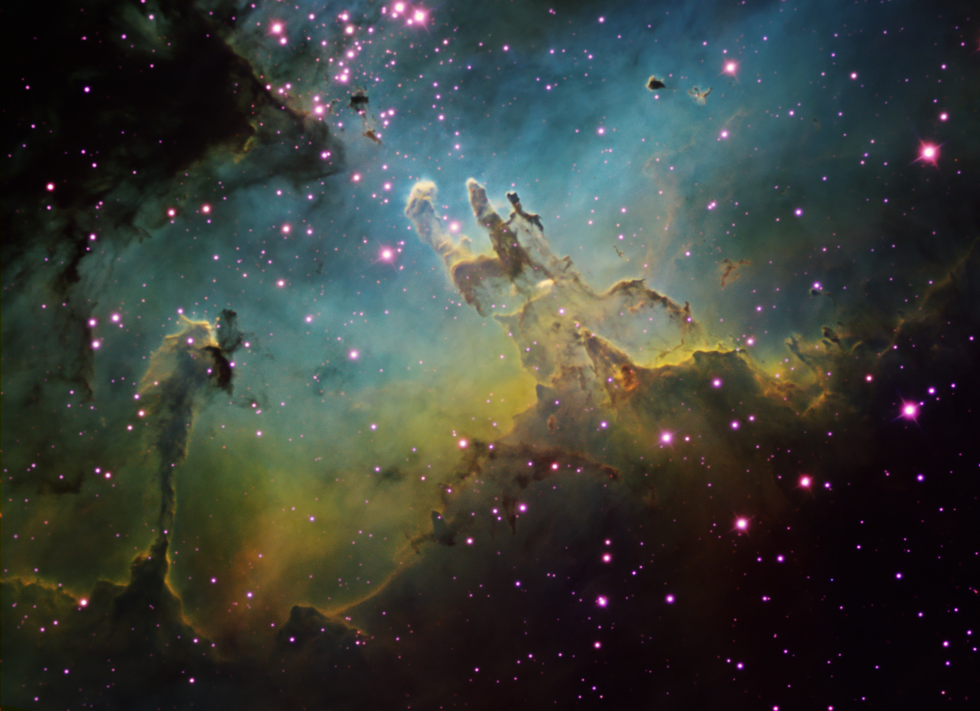 Pillars Of Creation High Resolution M16 by ken crawford with a