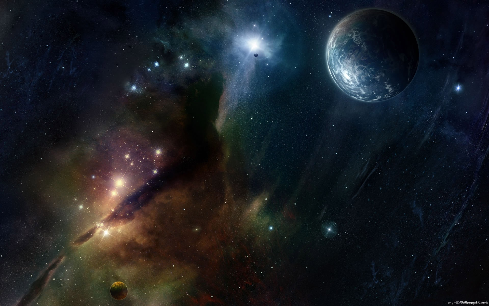 Space Planets Stars Landscapes Wallpaper have resolution px