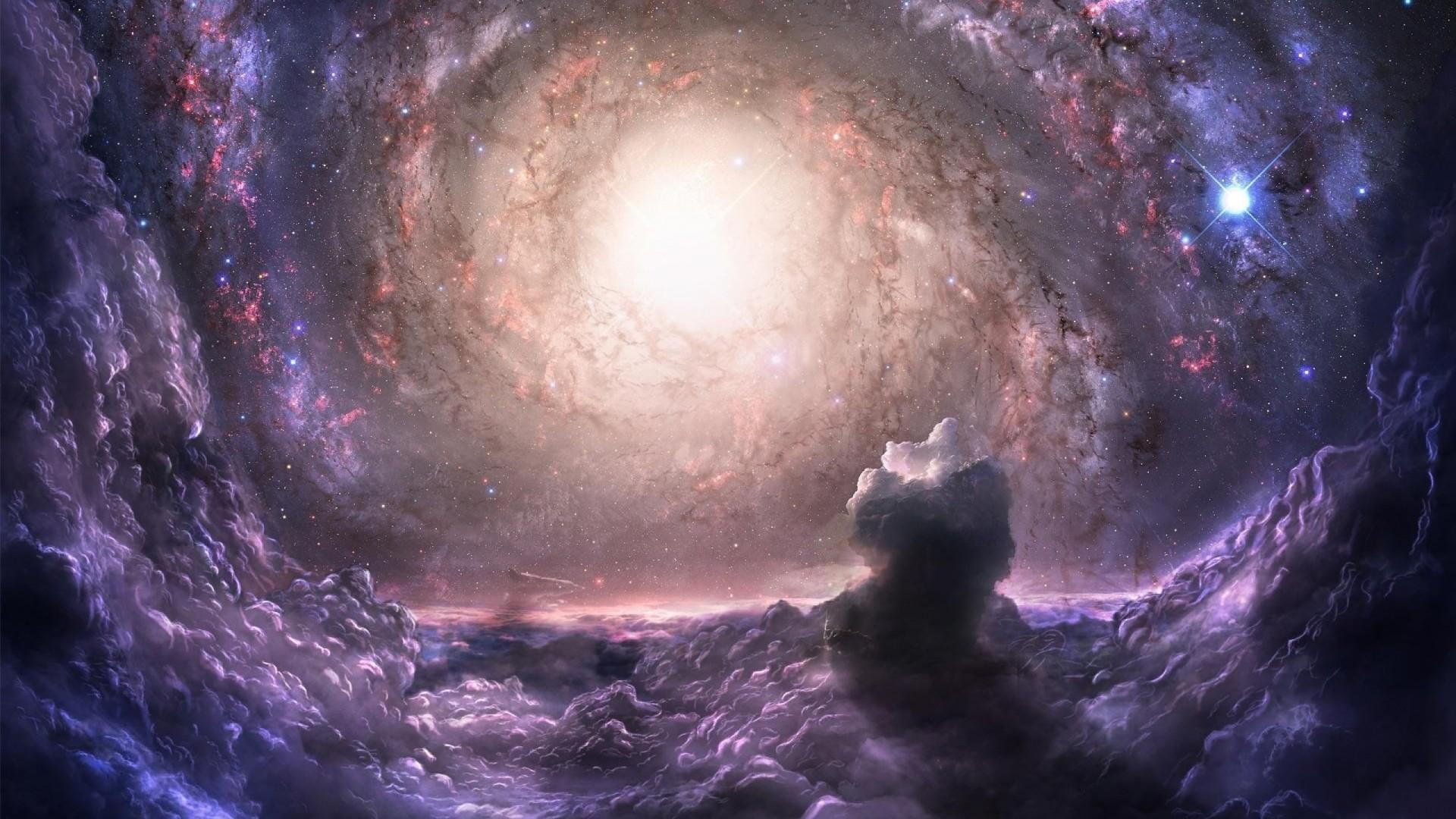 Wallpaper galaxy cluster, gravity, communication