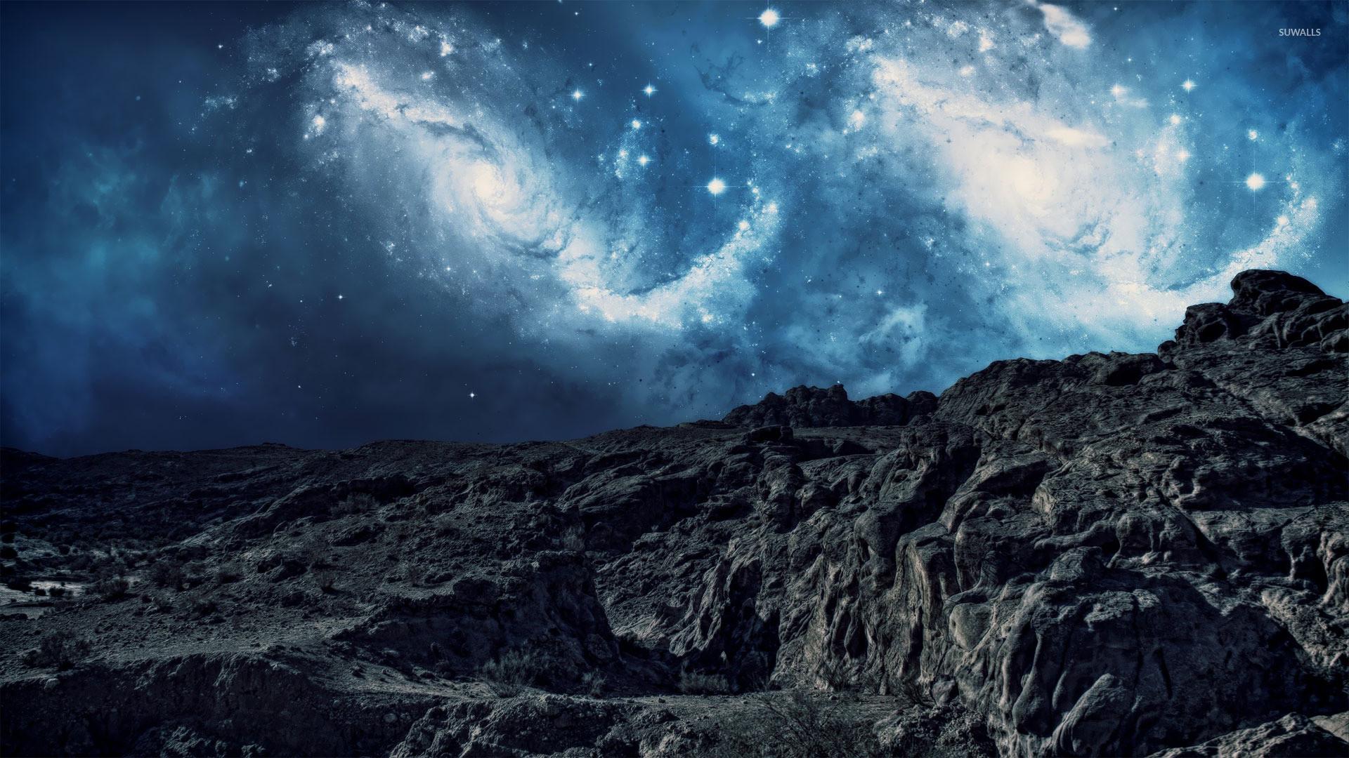 Stargazing on the mountain wallpaper jpg