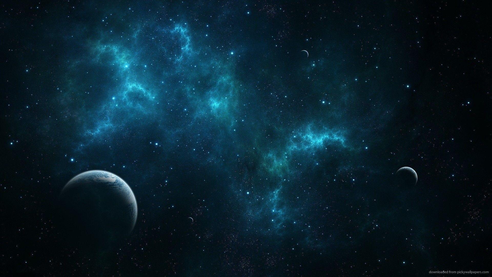 HD Deep Blue Space Wallpaper