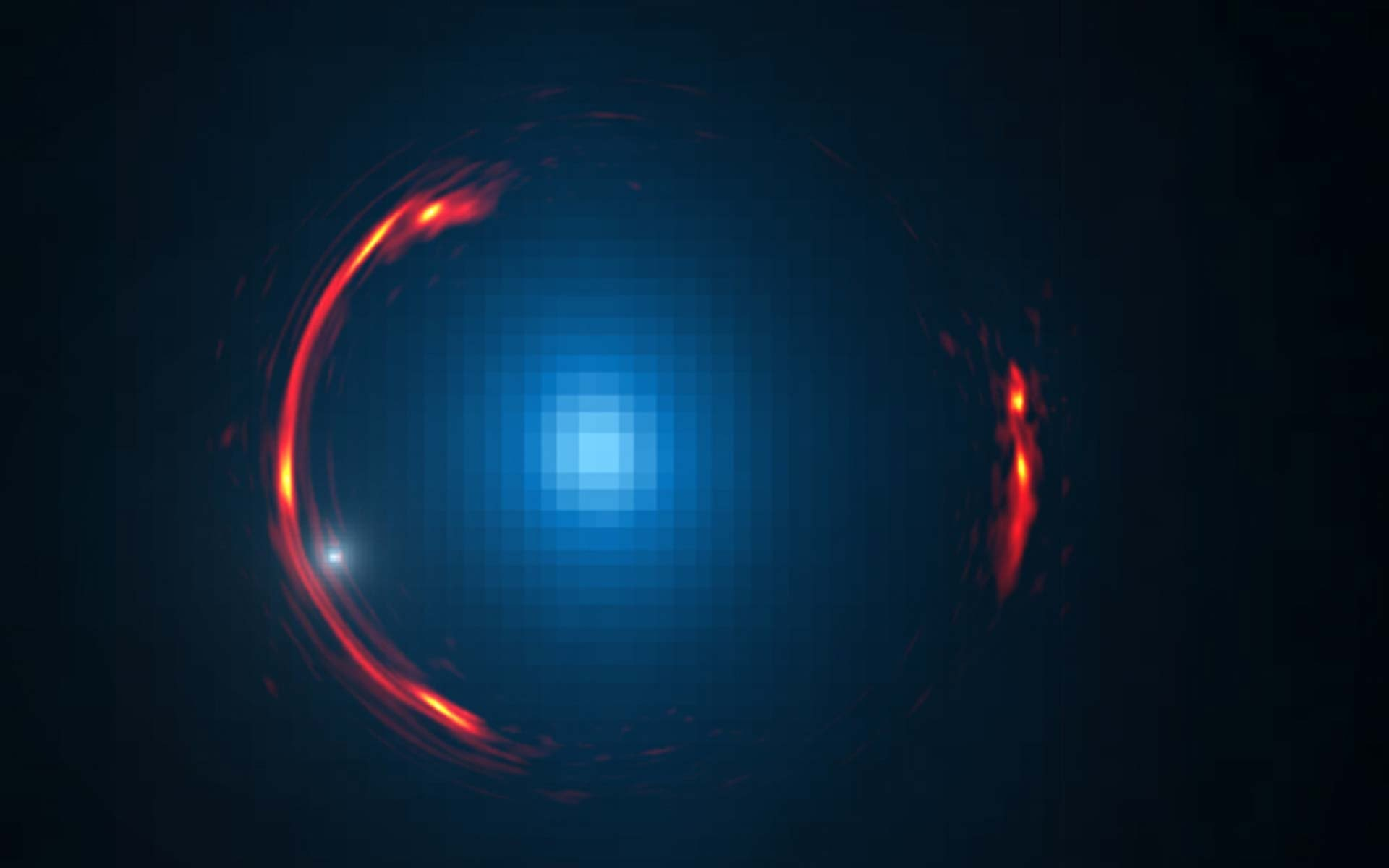 An Intriguing Cosmic Distortion | Space Wallpaper