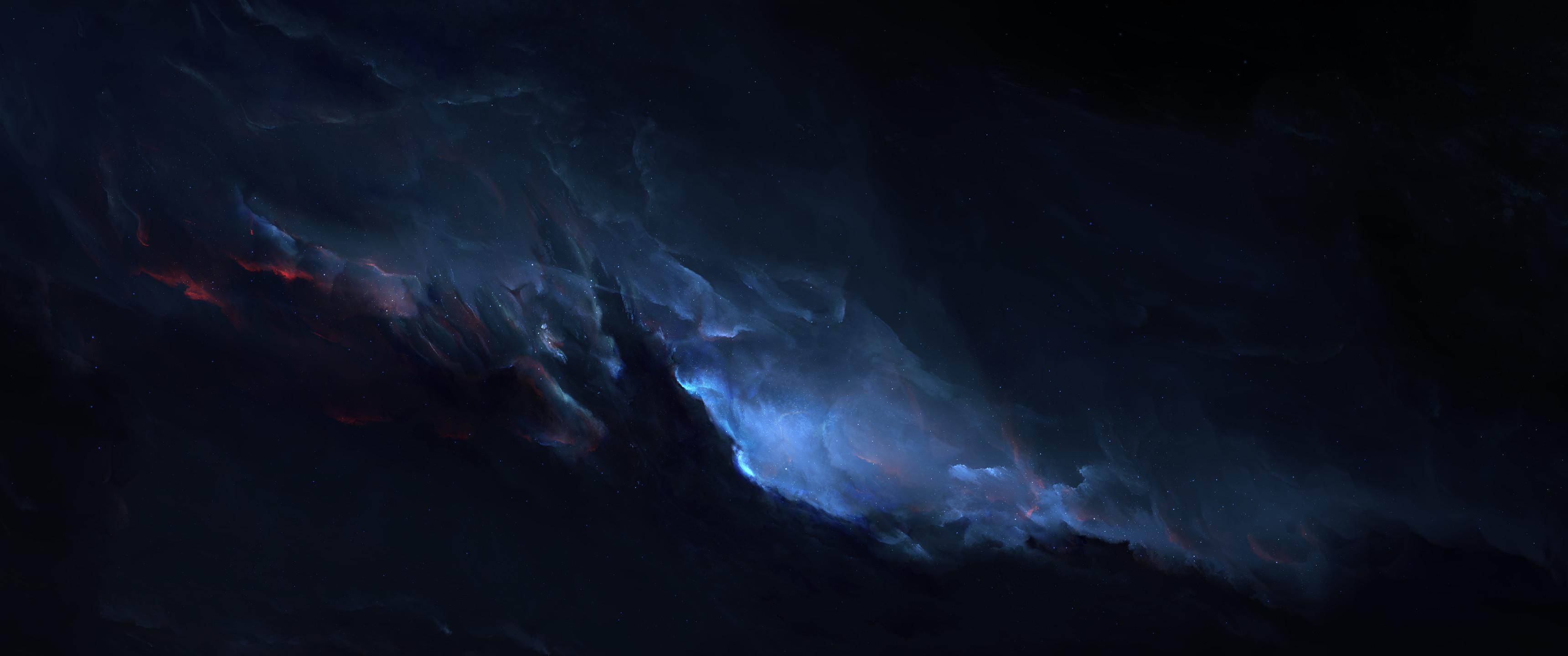 ultrawide Astrophotography Space Blue Wallpapers HD Desktop