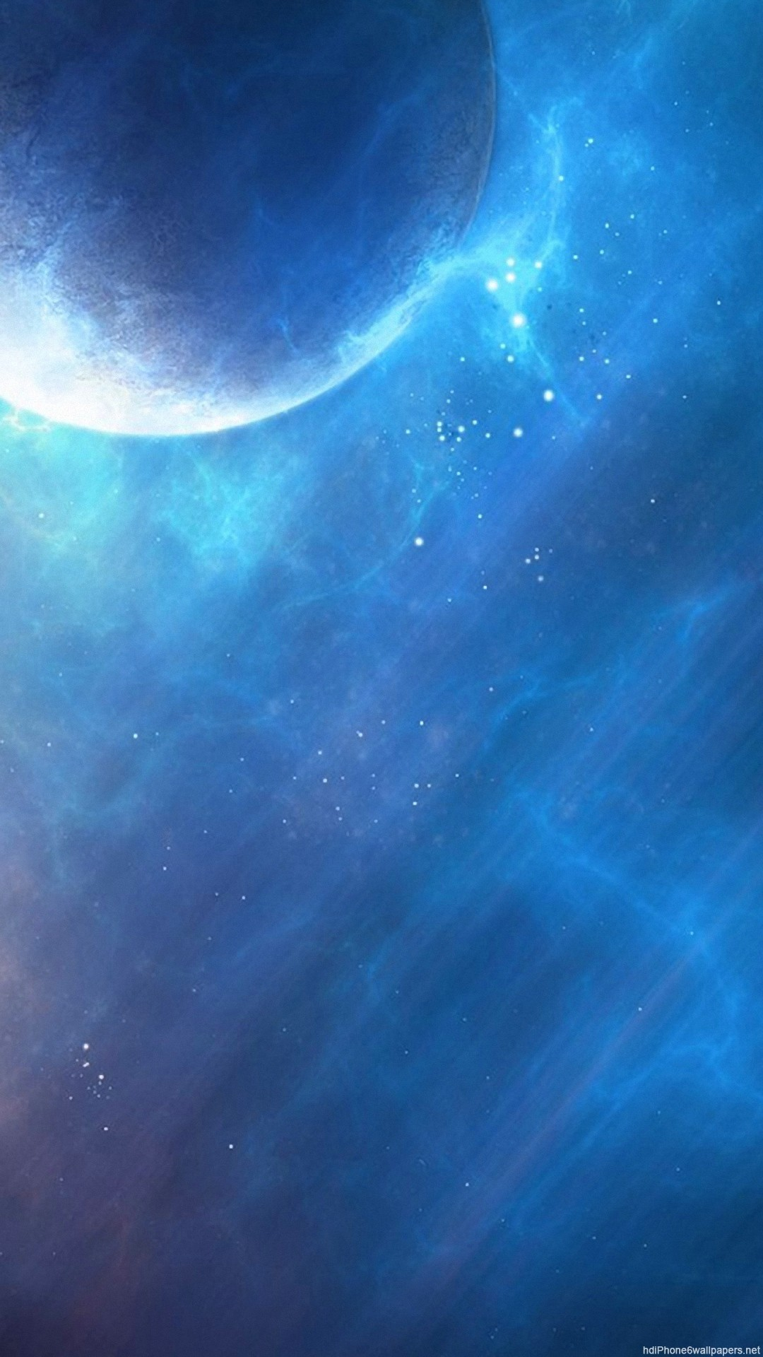 beautiful blue space planet iPhone 6 wallpapers HD – 6 Plus  backgrounds